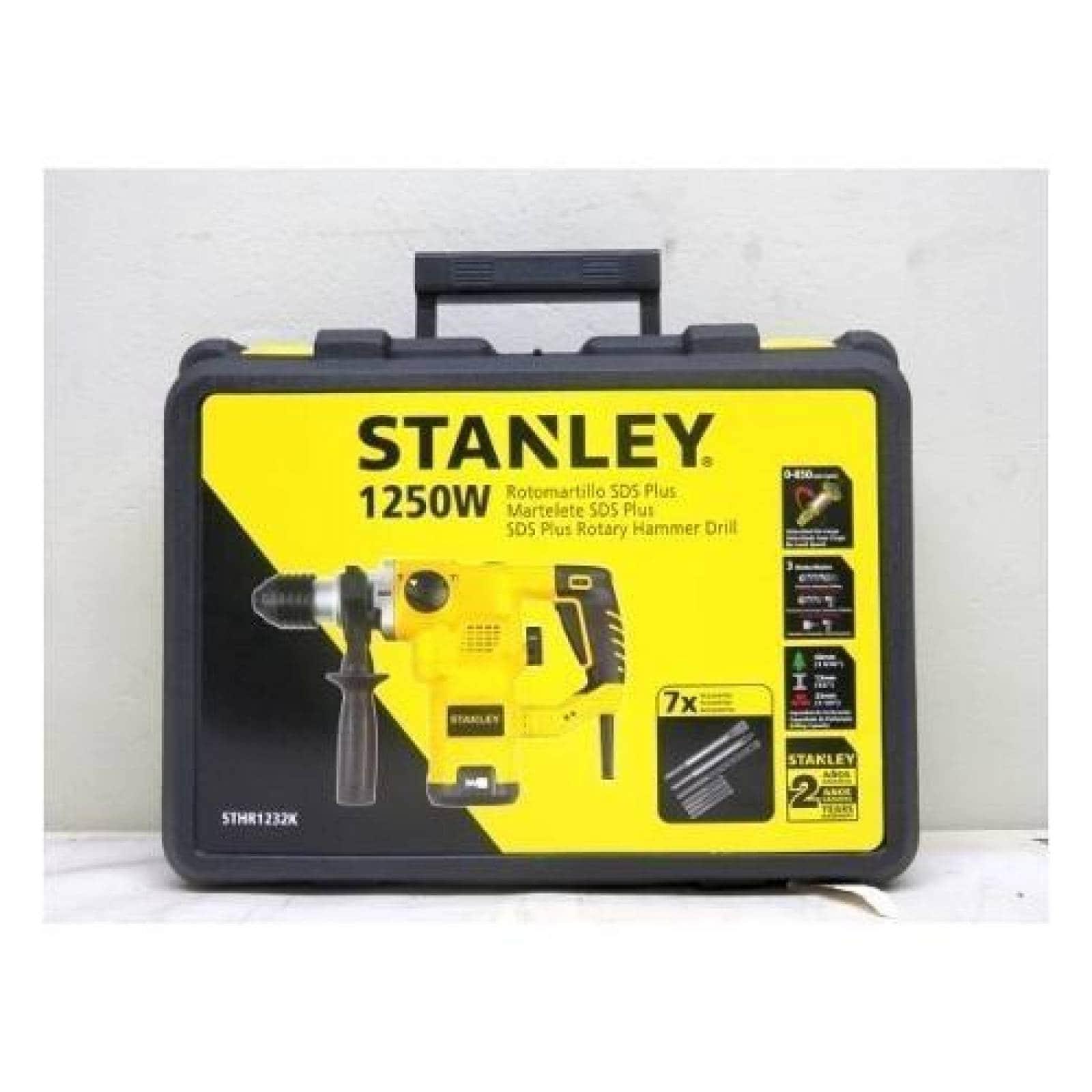 Rotomartillo Sds plus  1200w 1 1 4 Stanley Sthr1232k b3