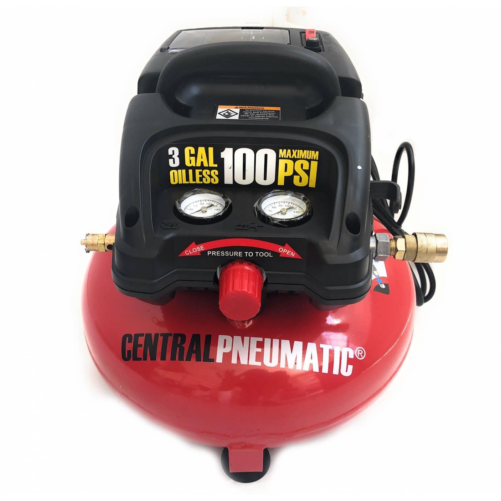 Compresor Pancake 3 Galones 100 Psi Central Pneumatic