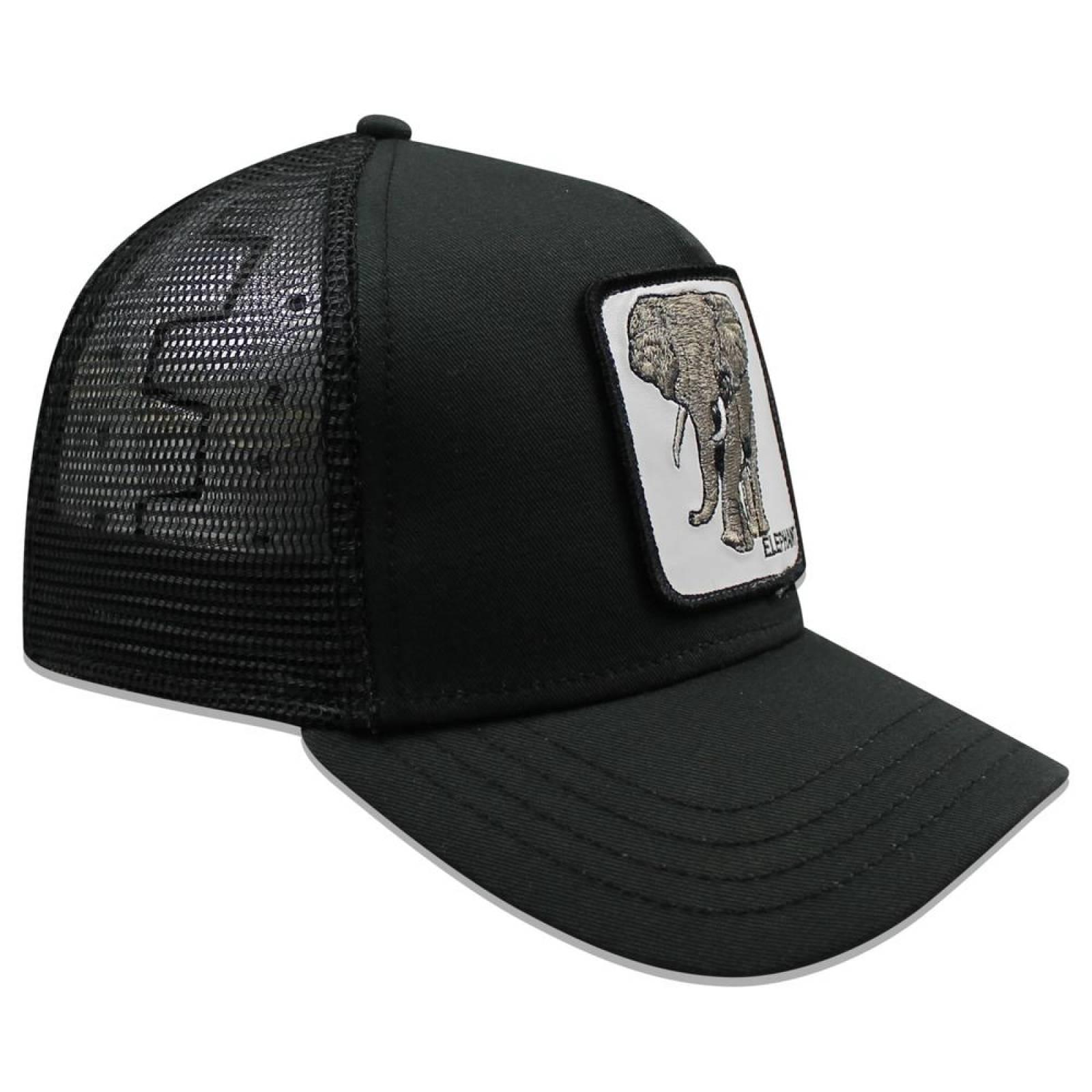 Gorra Goorin Bros Trucker Big Heart Elefante 1010561 Negro