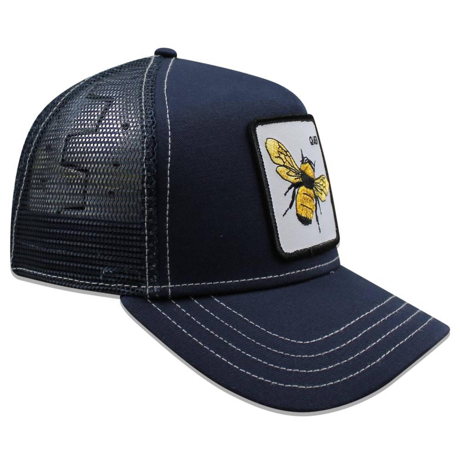 Gorra Goorin Bros Trucker Fierce Abeja 1010567 Azul Marino
