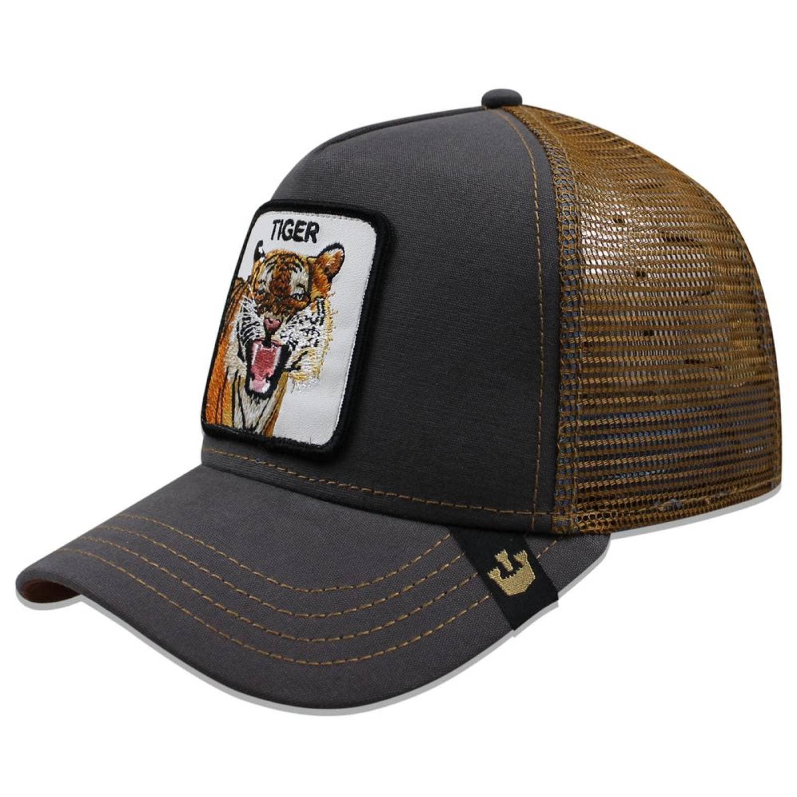 Gorra Goorin Bros Trucker Tiger Gris
