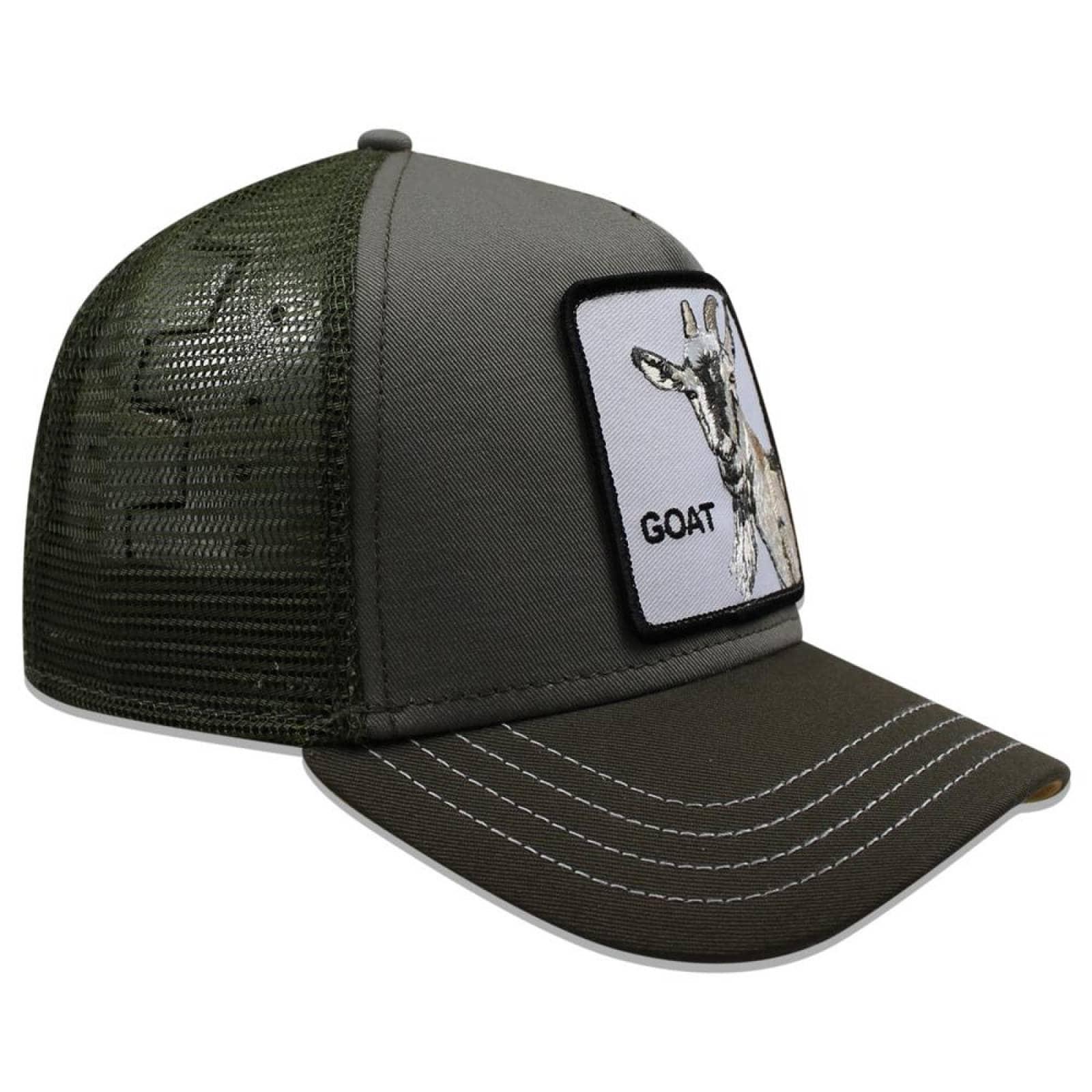 Gorra Goorin Bros Trucker Goat Beard Olivo Chiva