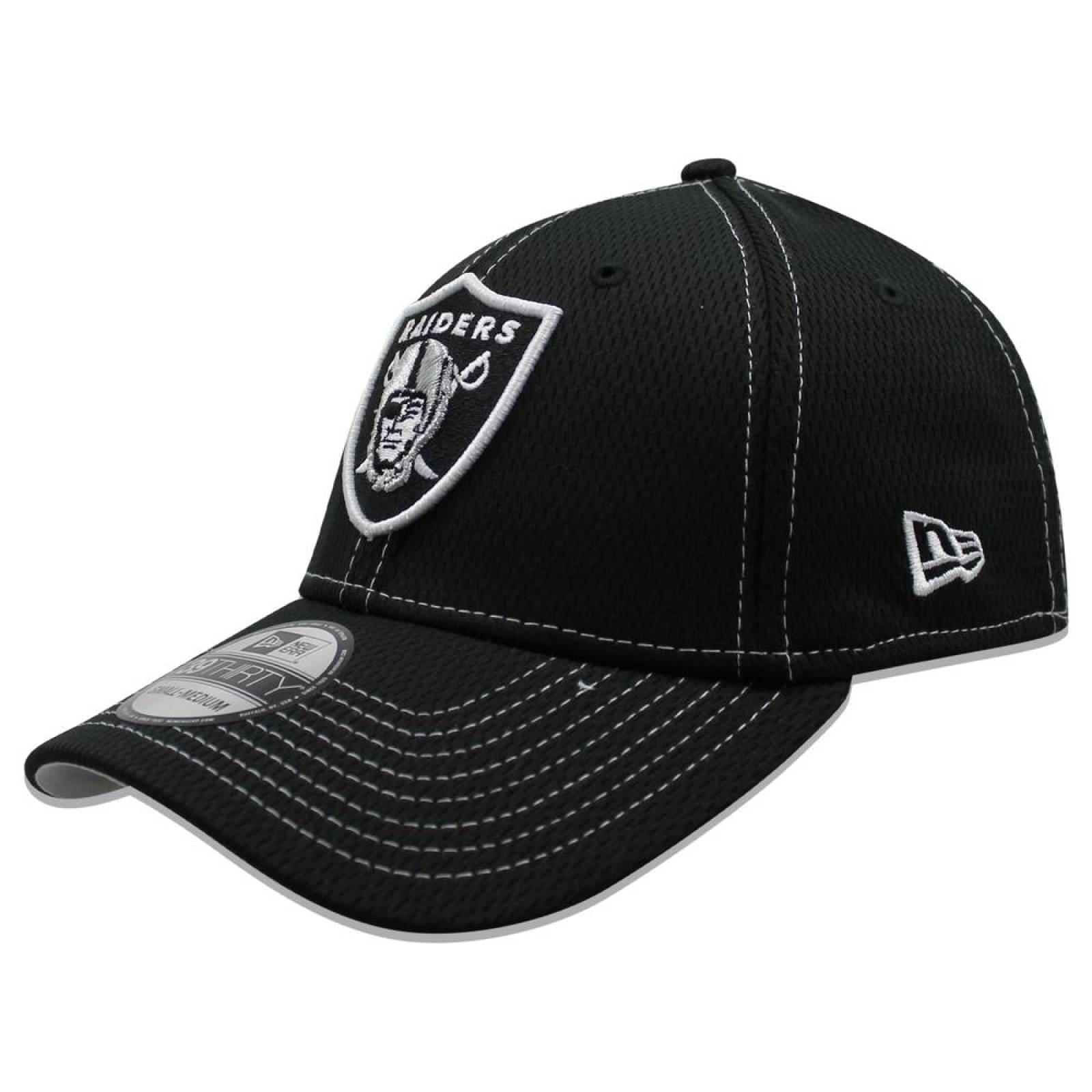 Gorra New Era 39 Thirty NFL Raiders Sideline Established Road Negro