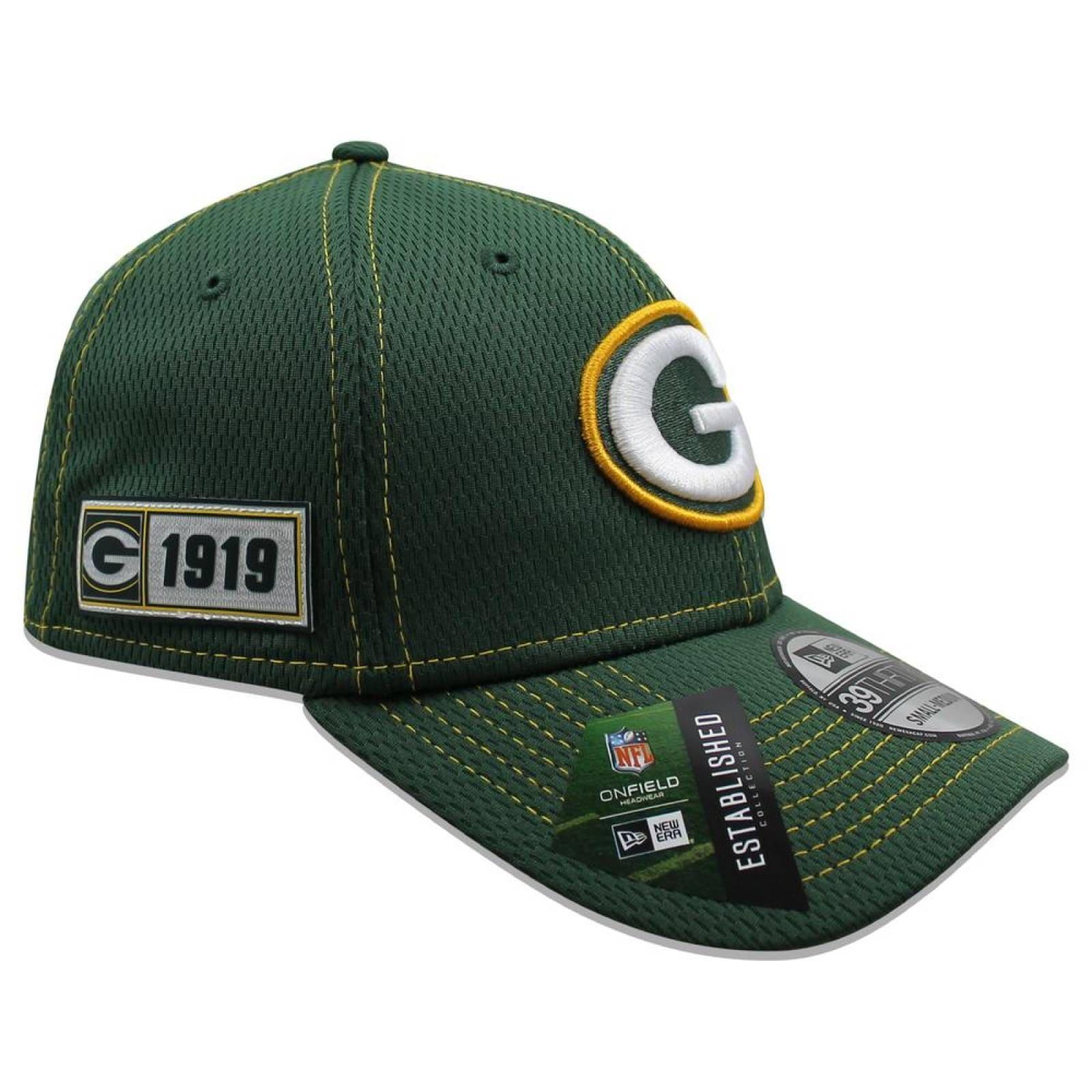 Gorra New Era 39 Thirty NFL Packers Sideline Established Road Verde