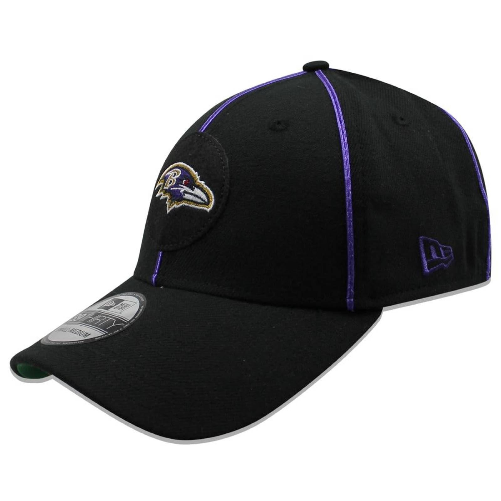Gorra New Era 39 Thirty NFL Ravens Sideline Established Home Negro