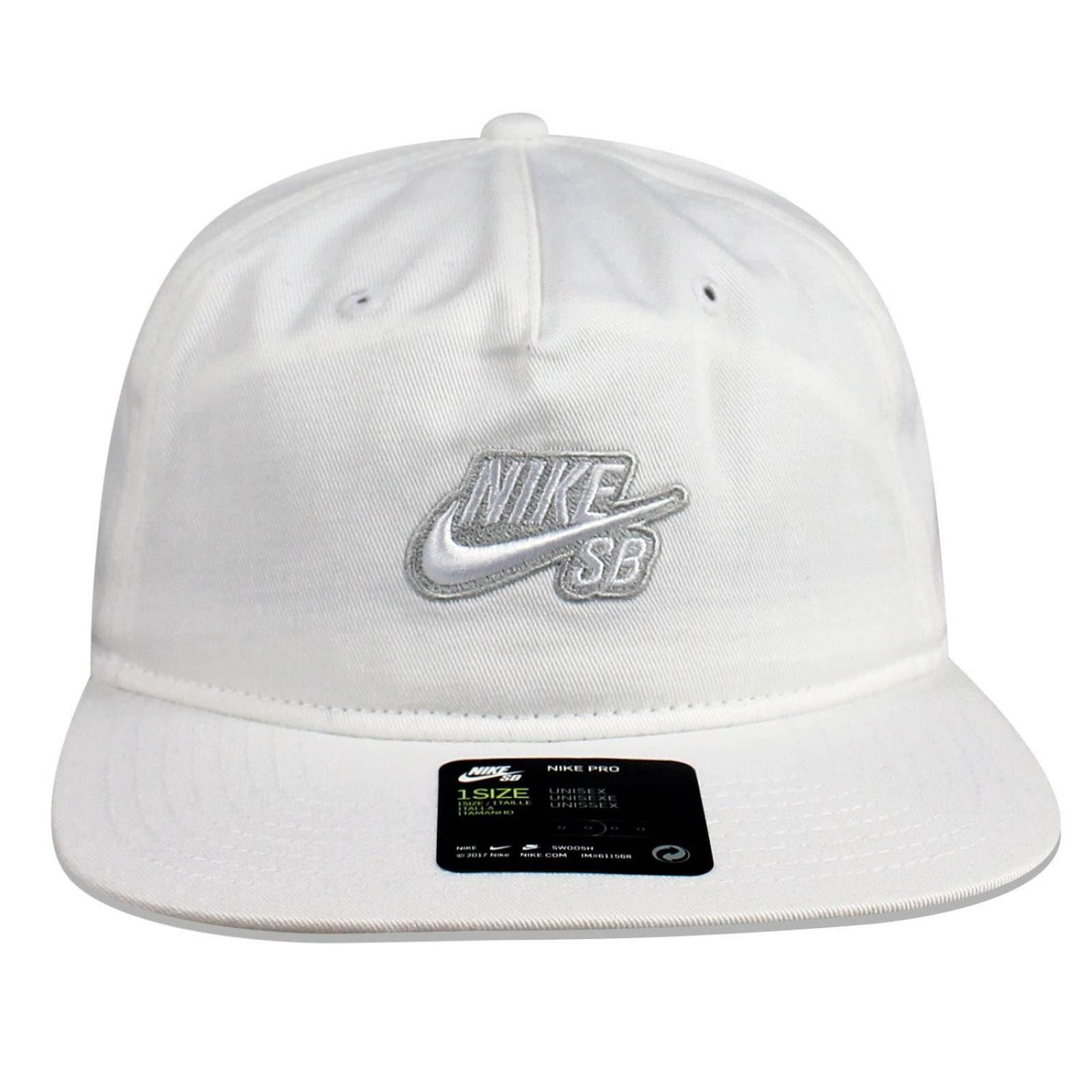 Gorra Nike Snapback Skateboarding Blanca