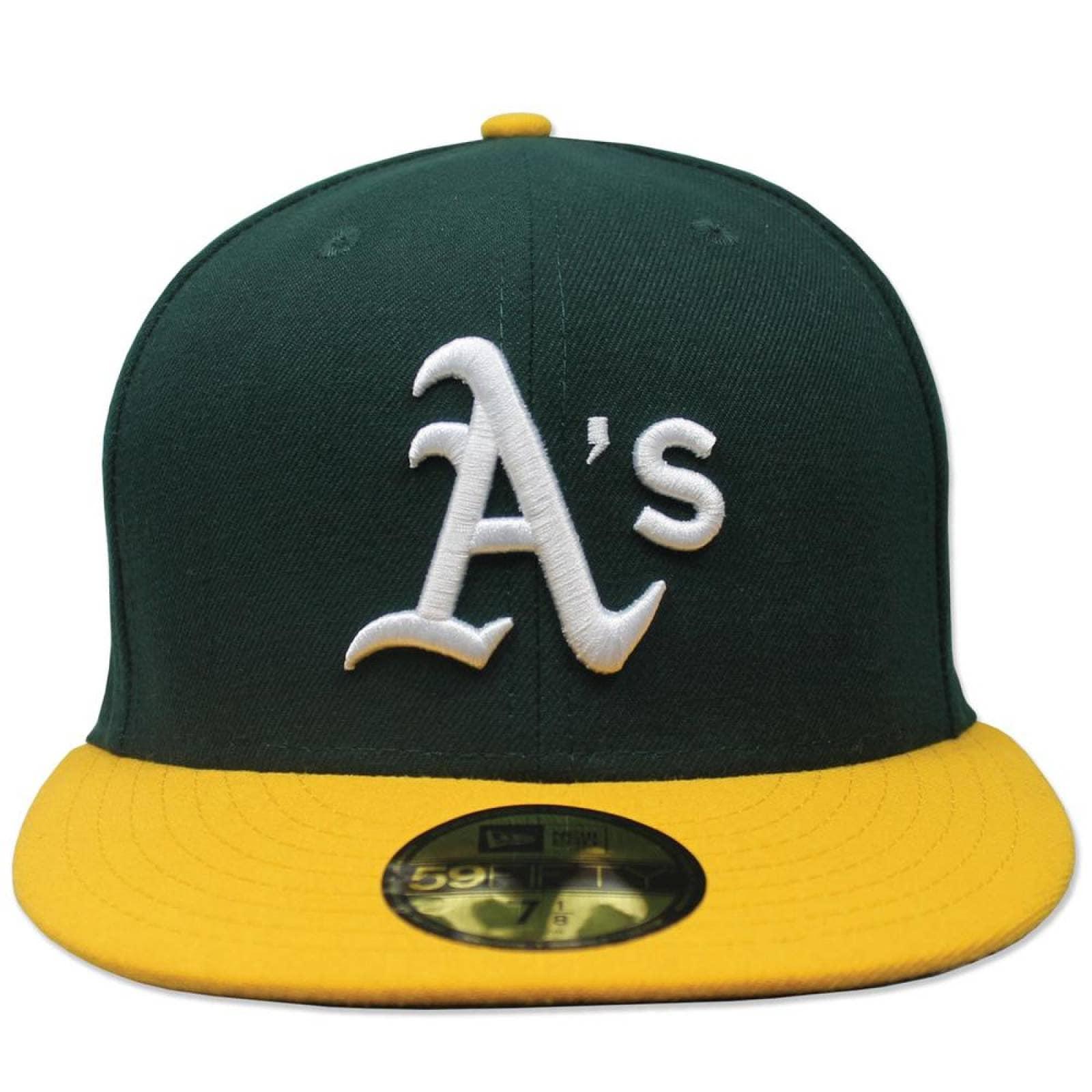 Gorra New Era 5950 Oakland Athletics Home Ac Perf VerdeAmarillo