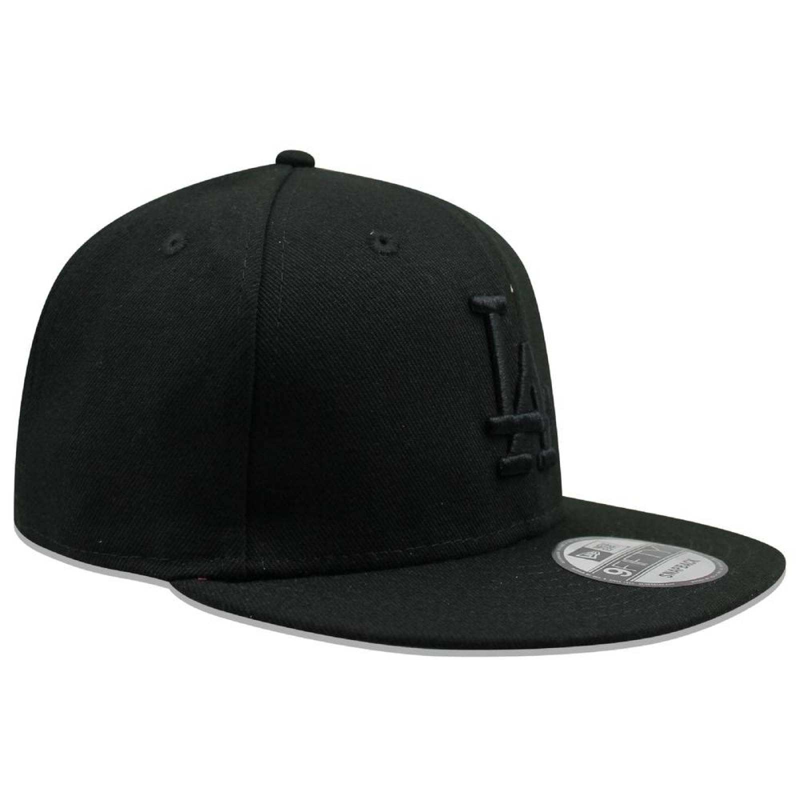 Gorra New Era 9 Fifty MLB Dodgers Basic Snap Black On Black