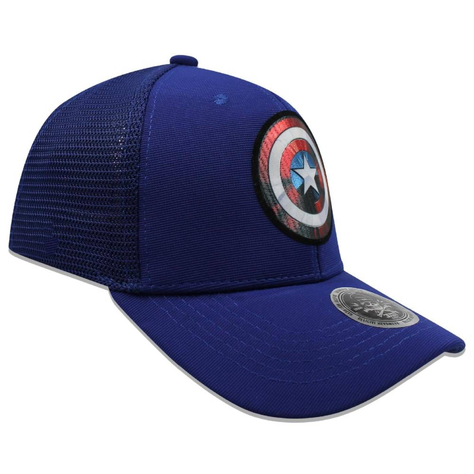 Gorra DADIVIT Capitan America Curva Azul