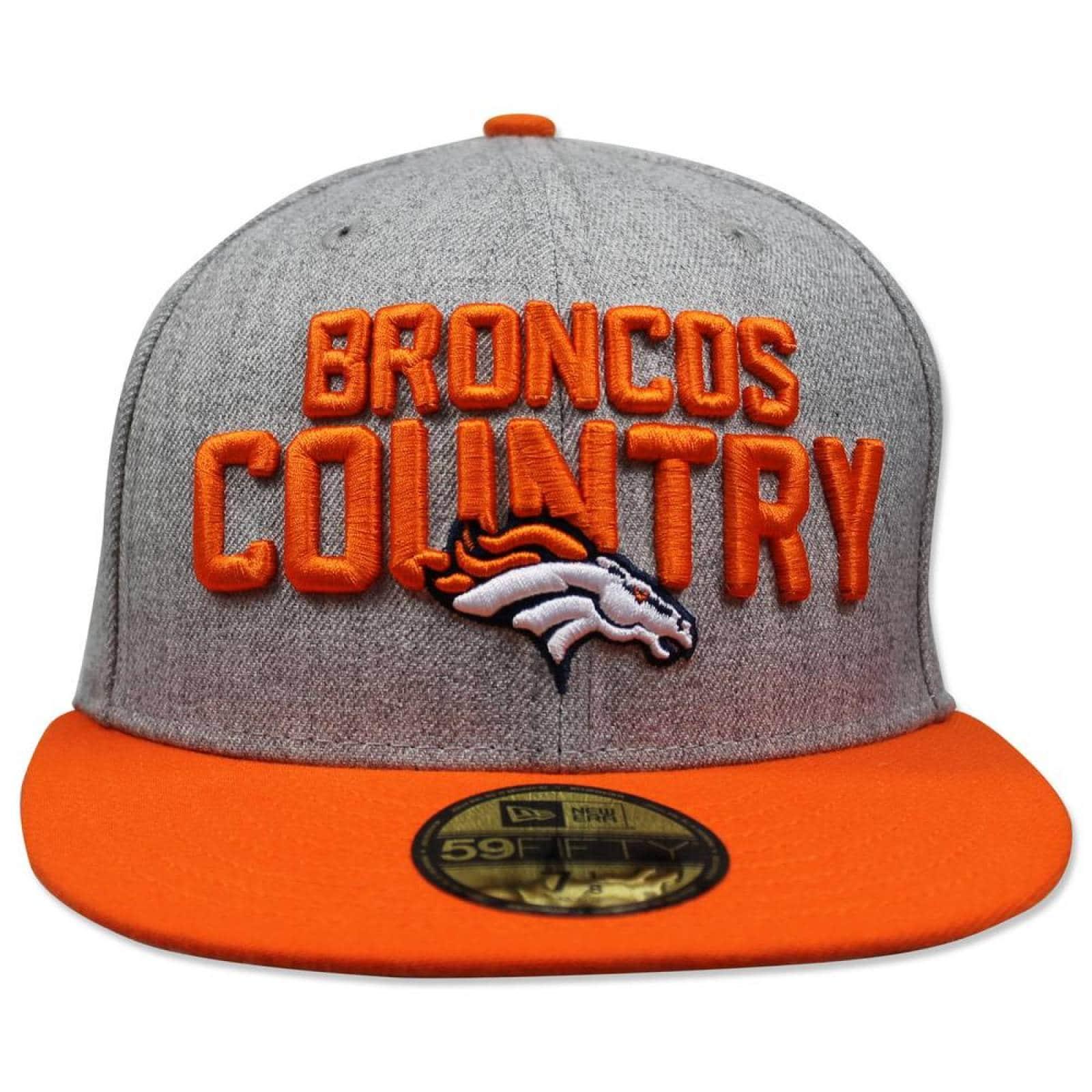 Gorra New Era 5950 NFL 2018 Broncos Draft GrisNaranja