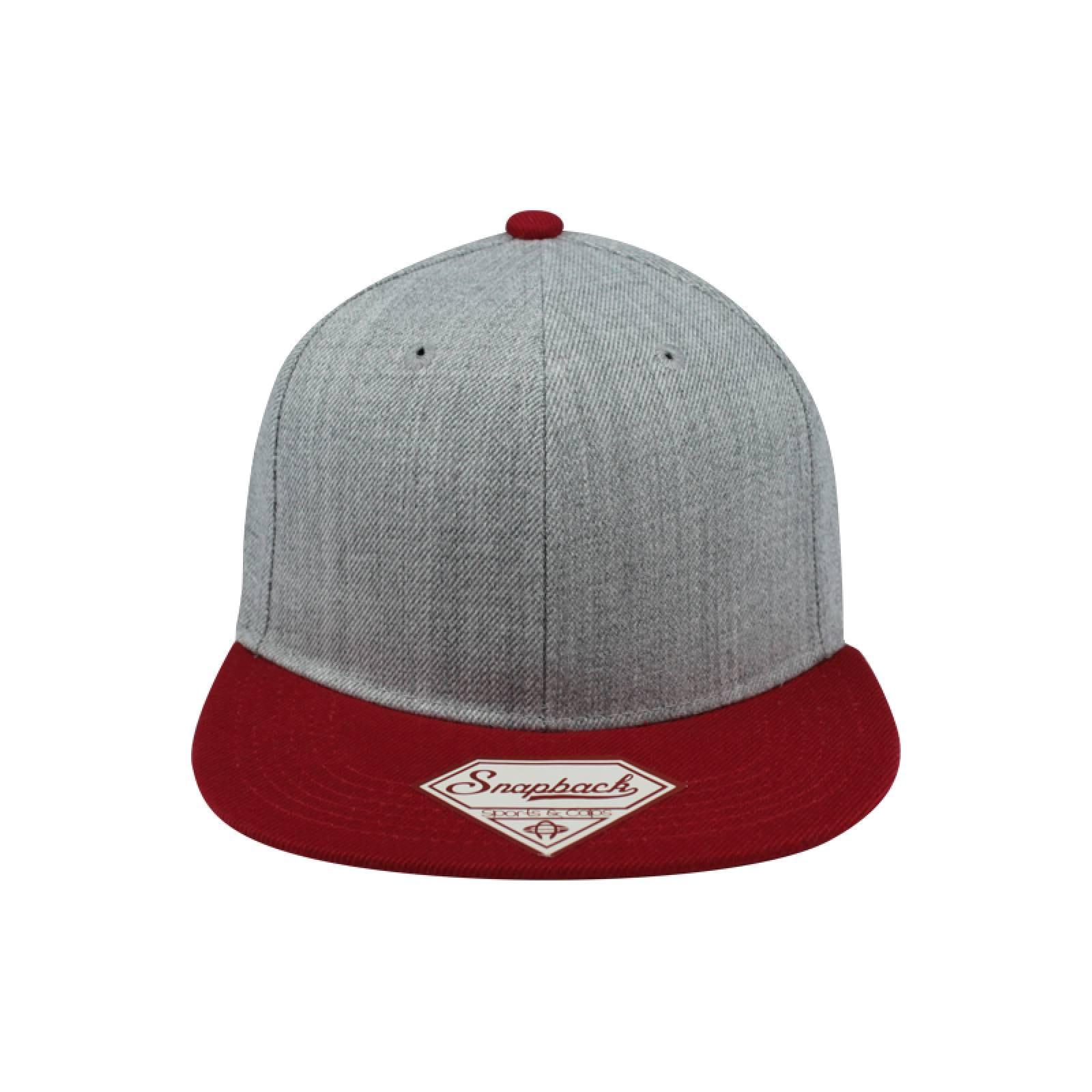 Gorra Sport Caps Snapback Jaspe GrisRojo Unitalla
