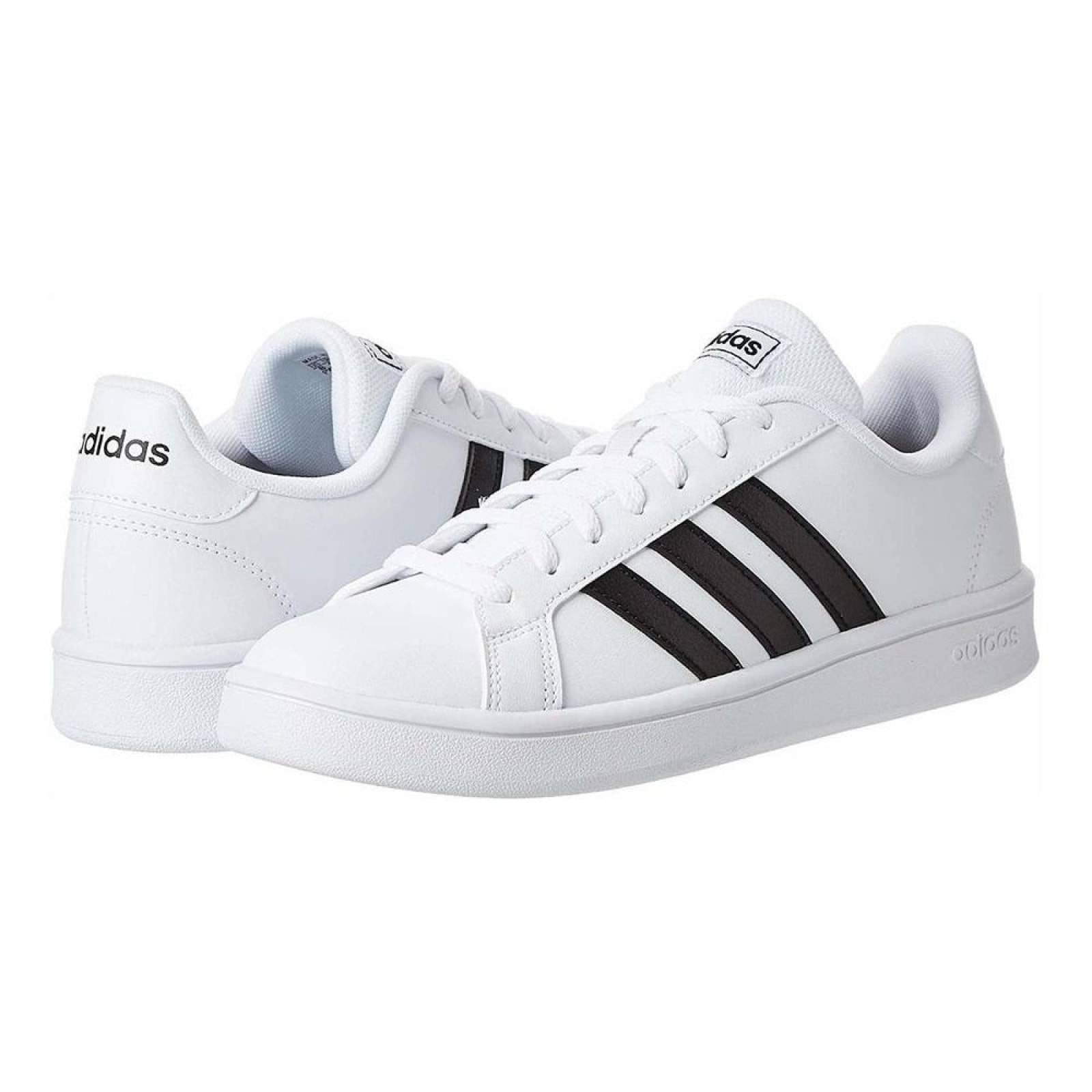 silueta Flexible lanza  tenis adidas blancos con lineas negras - Tienda Online de Zapatos, Ropa y  Complementos de marca