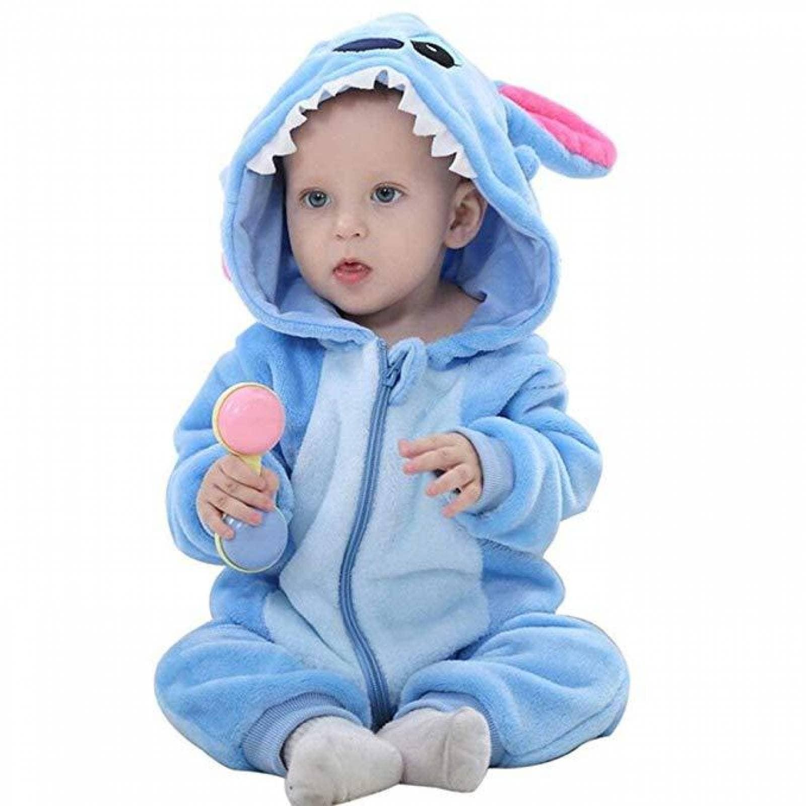 Mameluco para Bebe con Capucha 6-24 Stitch meses disfraz