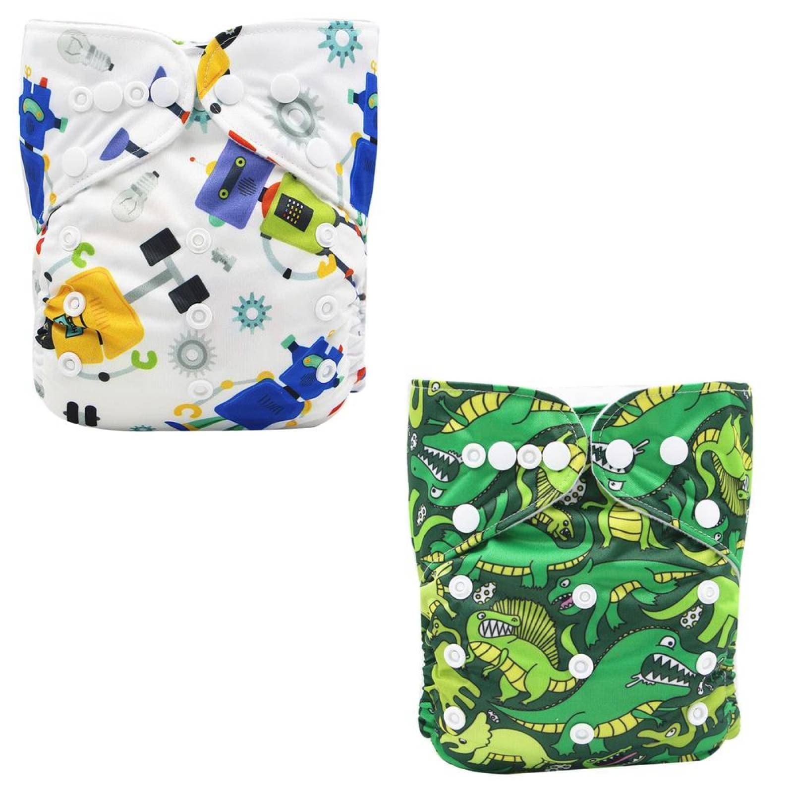 Pañal ecologico de tela reutilizable con Diseños 10 pañales 10 Insertos