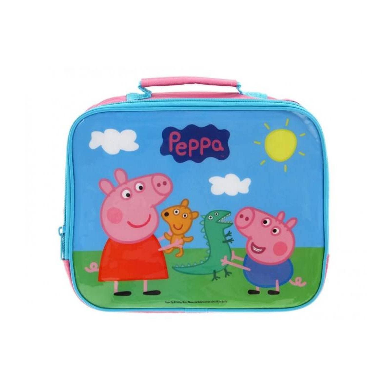 Lonchera Infantil Mochila Bolsa Rectangular Peppa Pig