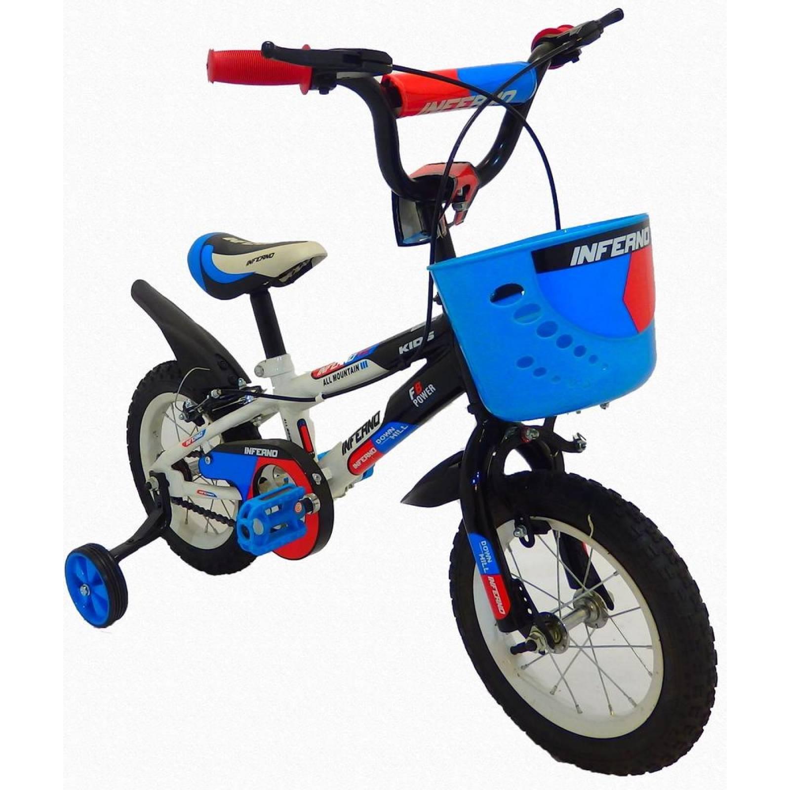 Bicicleta Infantil para niño rodada 12 Inferno Blanco