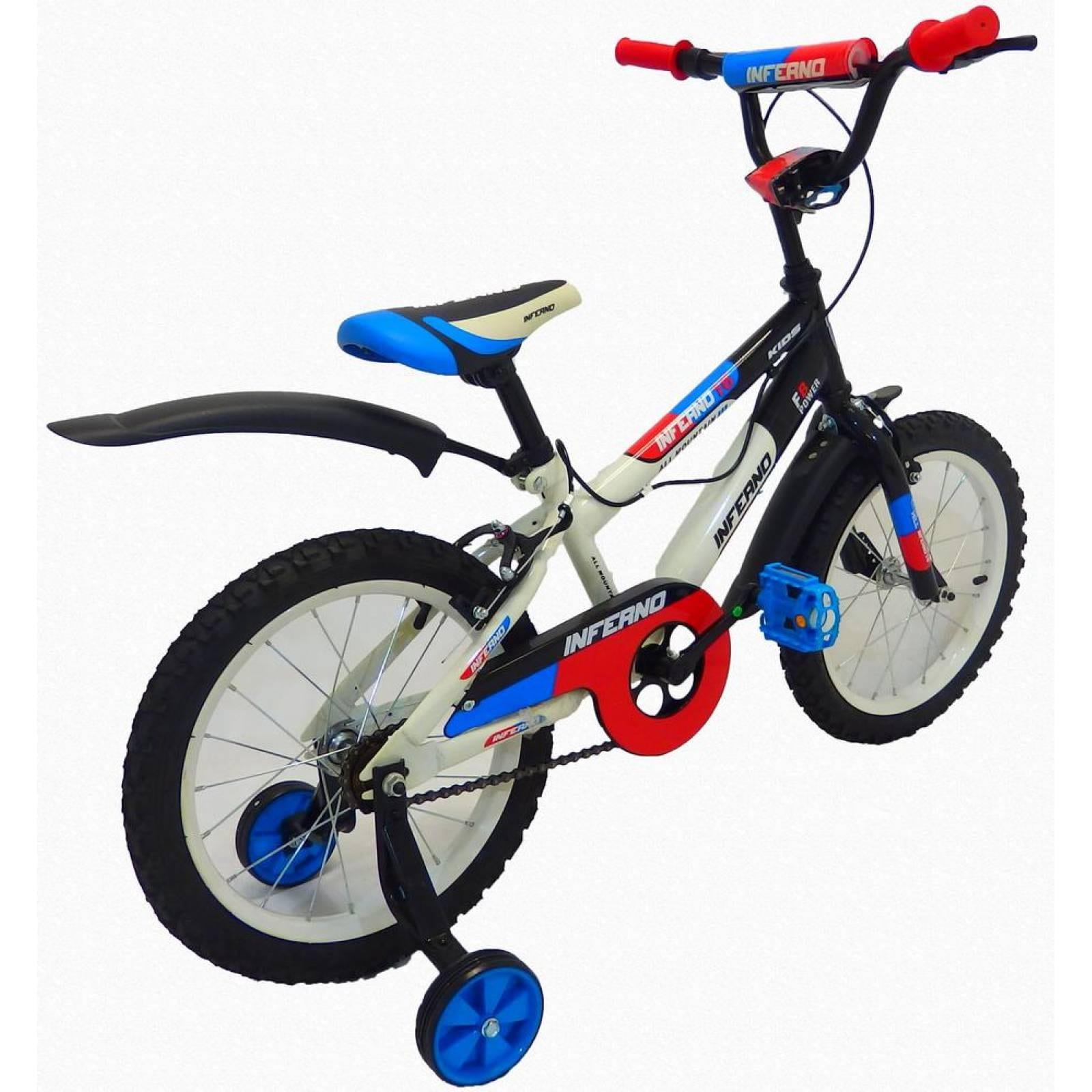 Bicicleta Infantil para niño rodada 16 Inferno Blanco