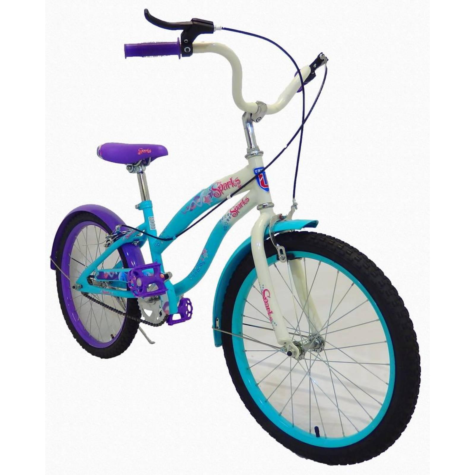 Bicicleta Infantil para niña rodada 20 SPARKS Azul