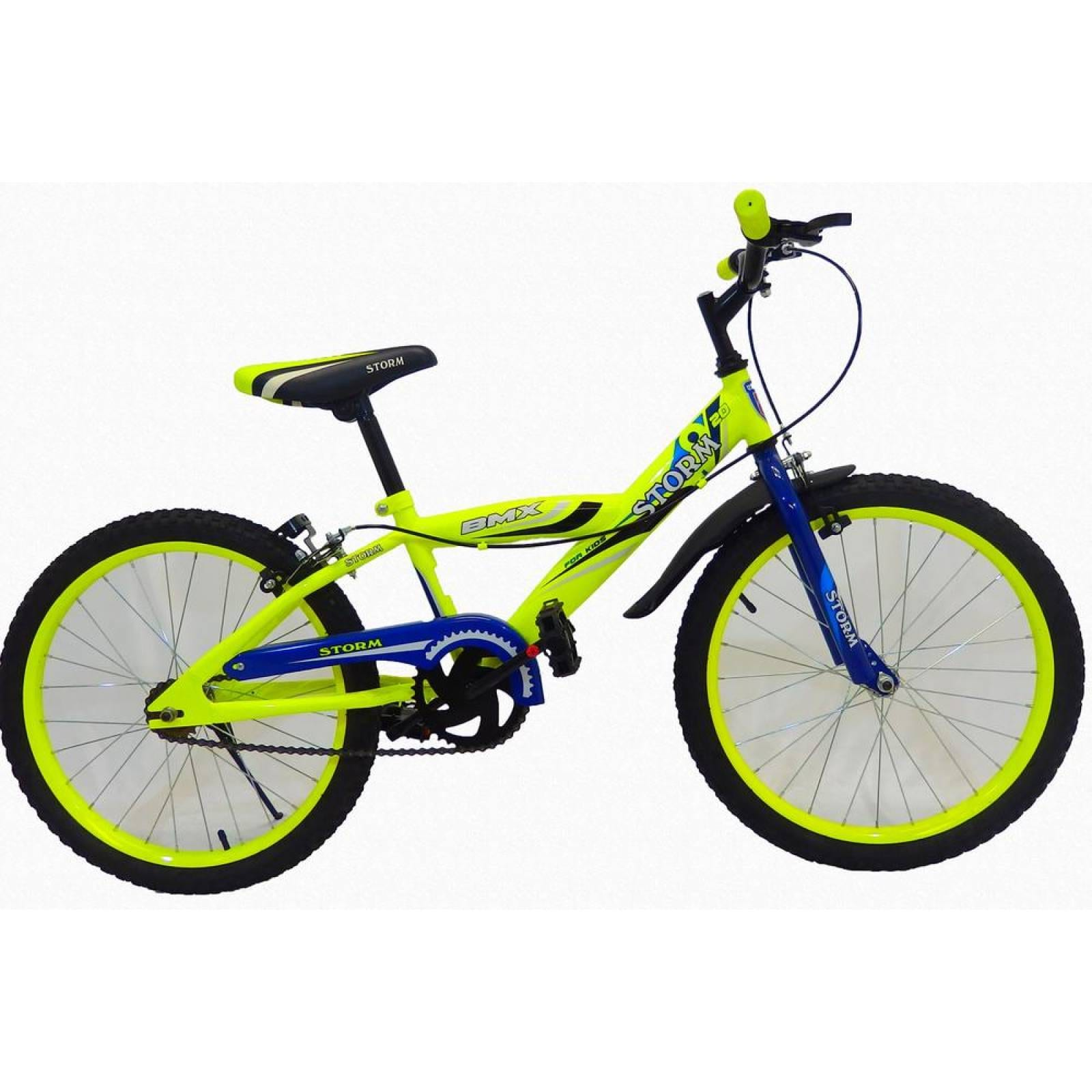 Bicicleta Infantil para niño rodada 20 STROM Azul marino