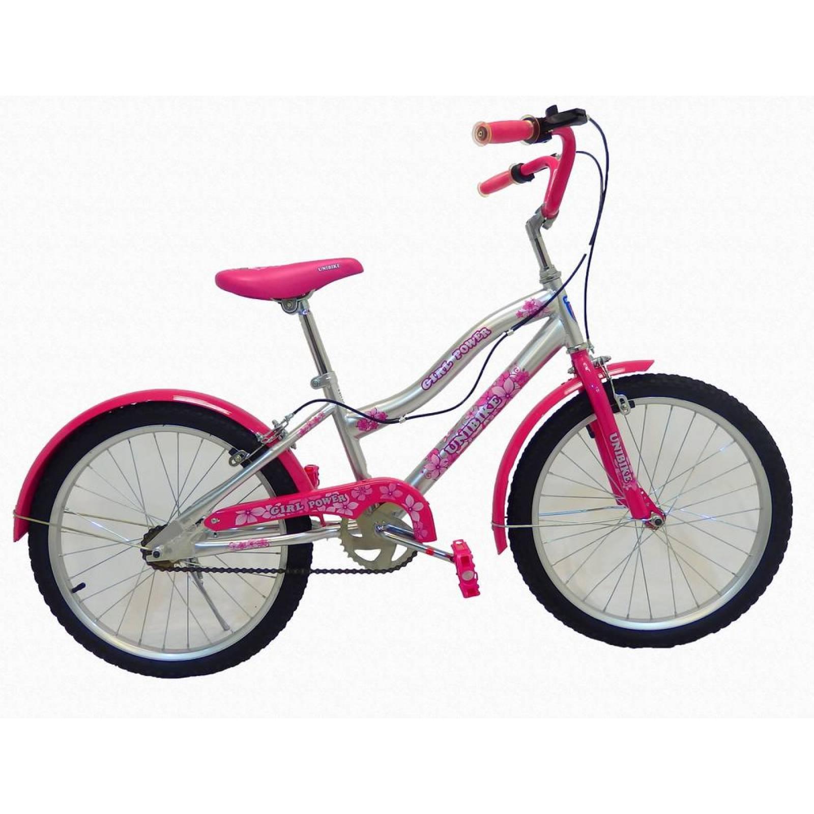 Bicicleta Infantil para niña rodada 20 POWER Blanco