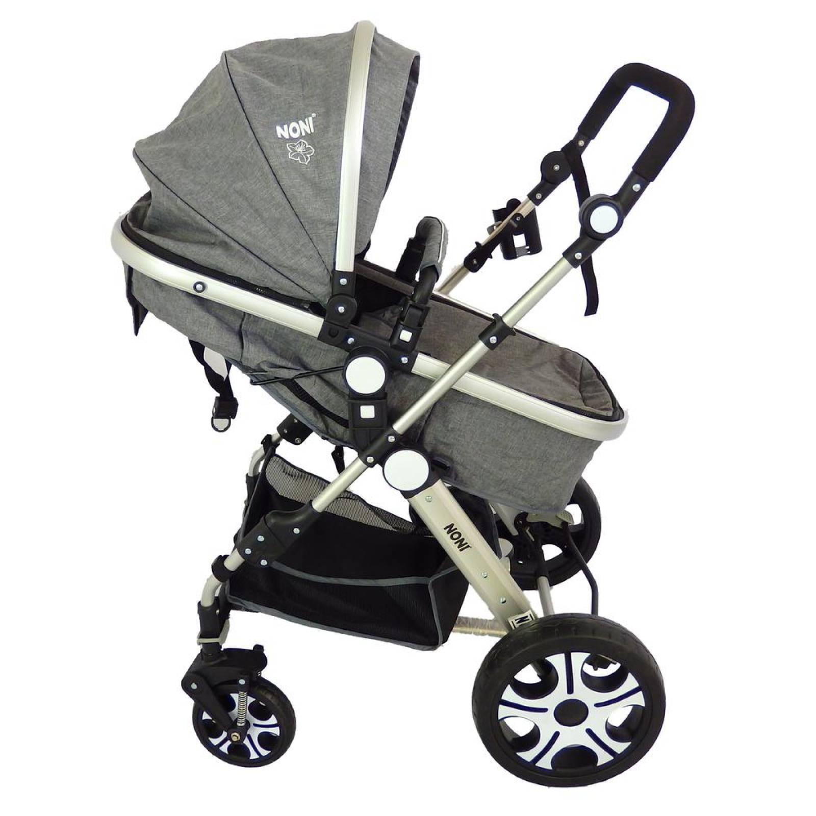 Carriola de bebe con portabebe reversible y bambineto Gris
