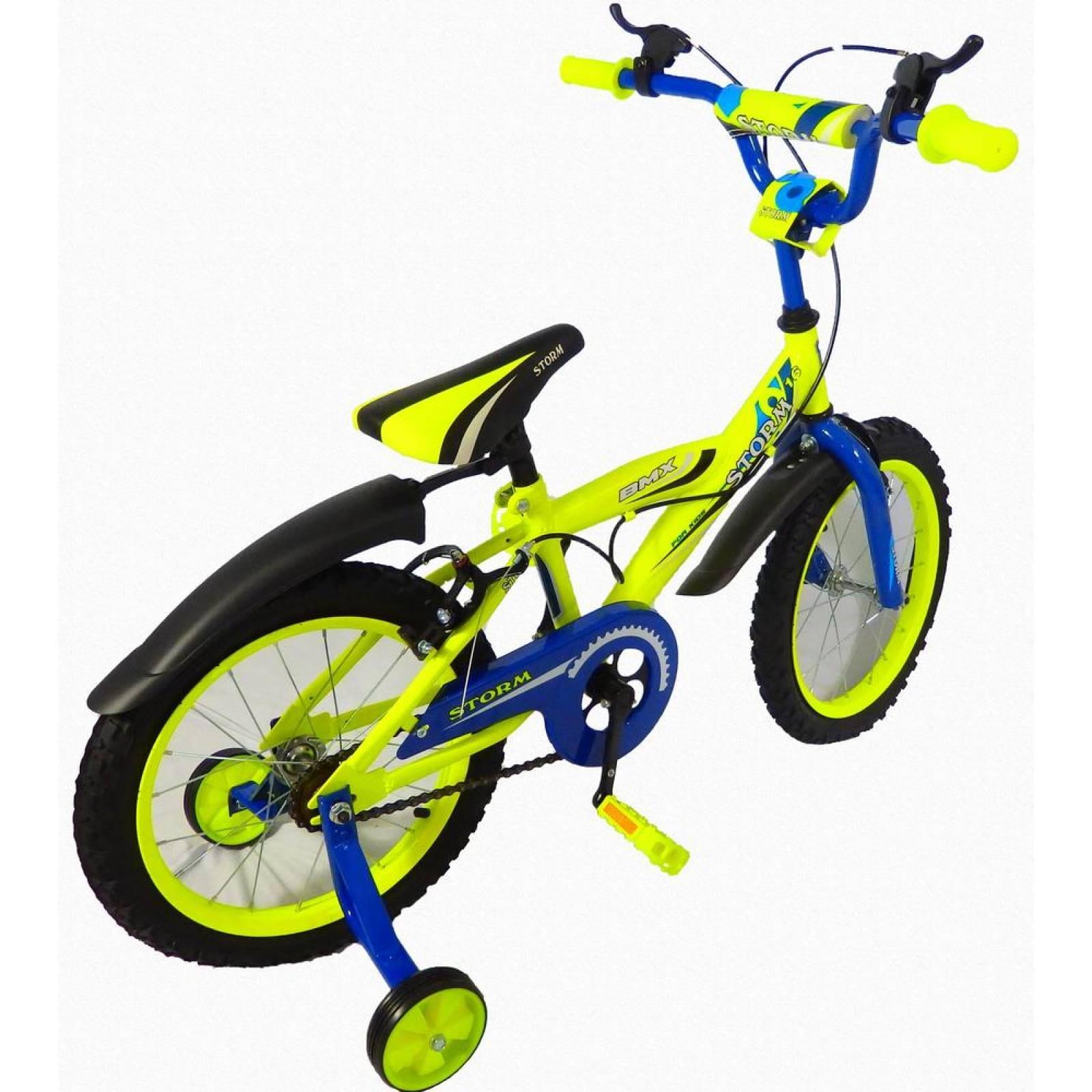 Bicicleta Infantil para niño rodada 16 Storm Azul marino
