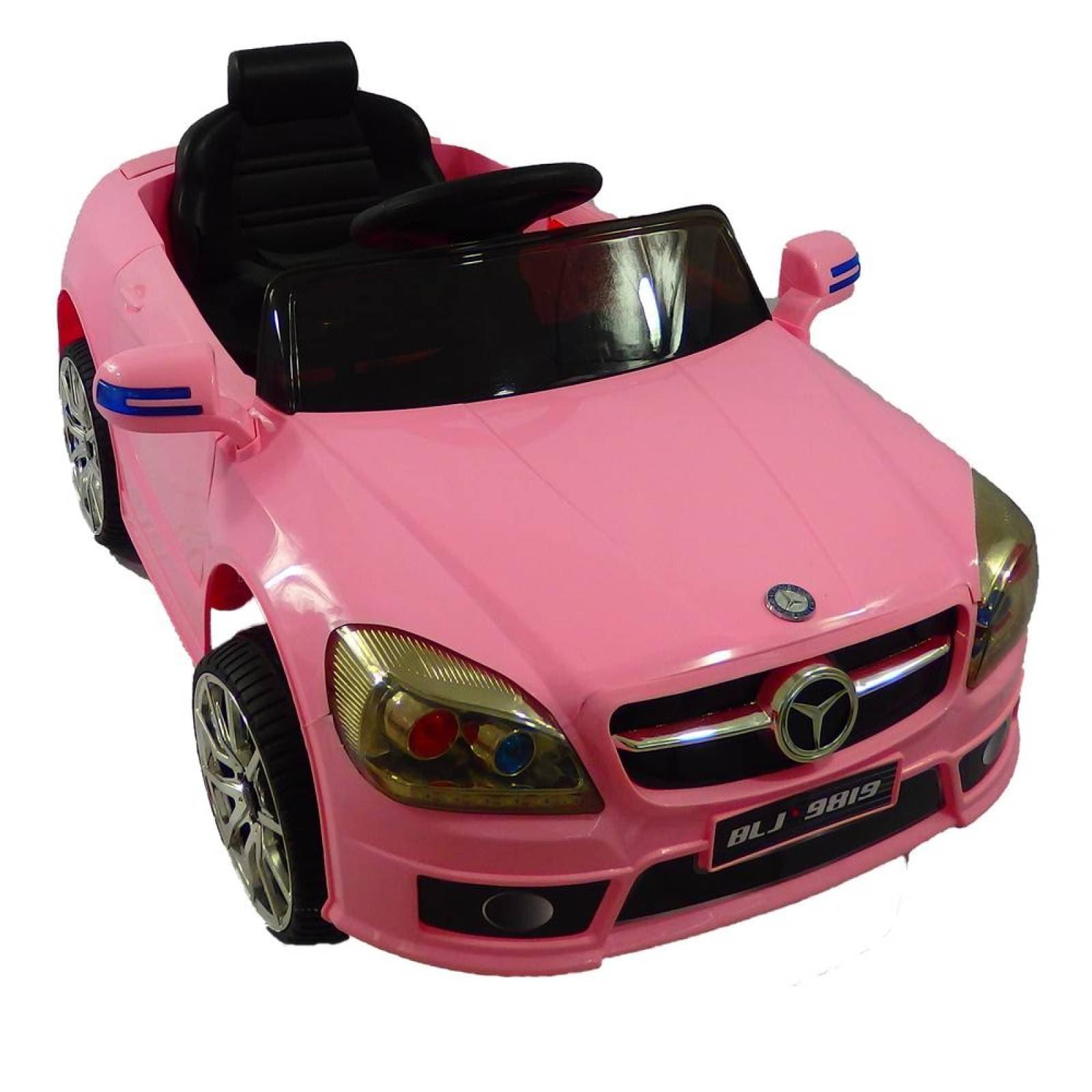 Carro Electrico Montable Con Control Remoto Mercedes Benz Rosa