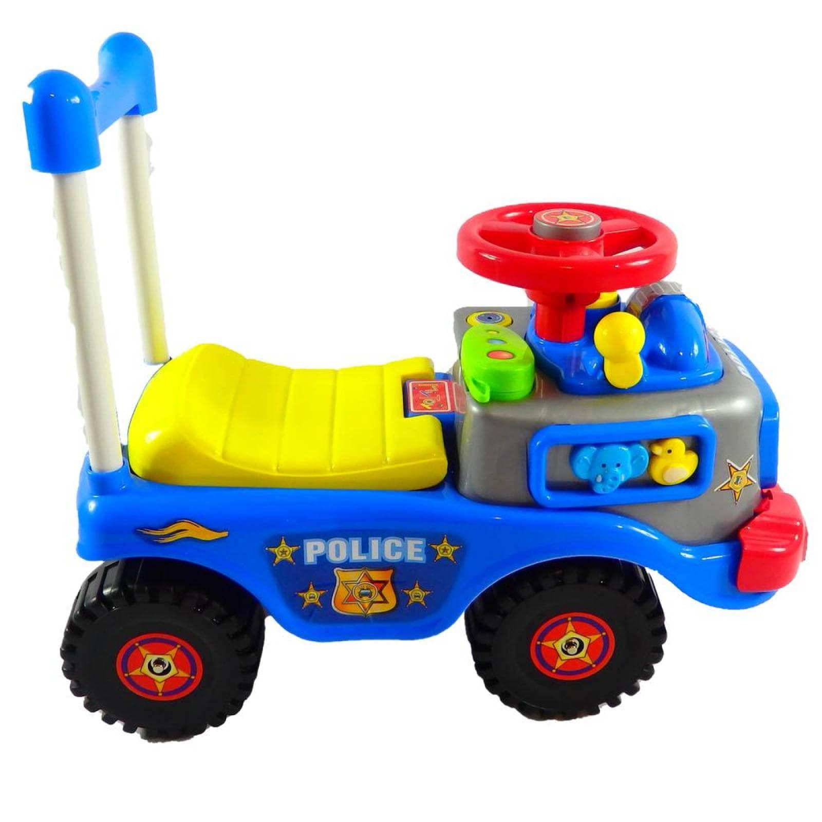 Montable Correpasillos de Policia con sonido Azul