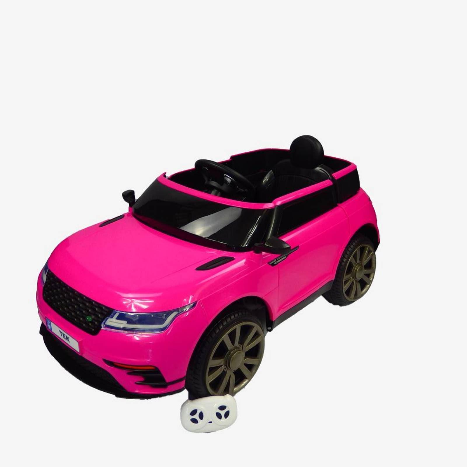 Carro Electrico Montable Con Control Rosa USBMusicaRadio