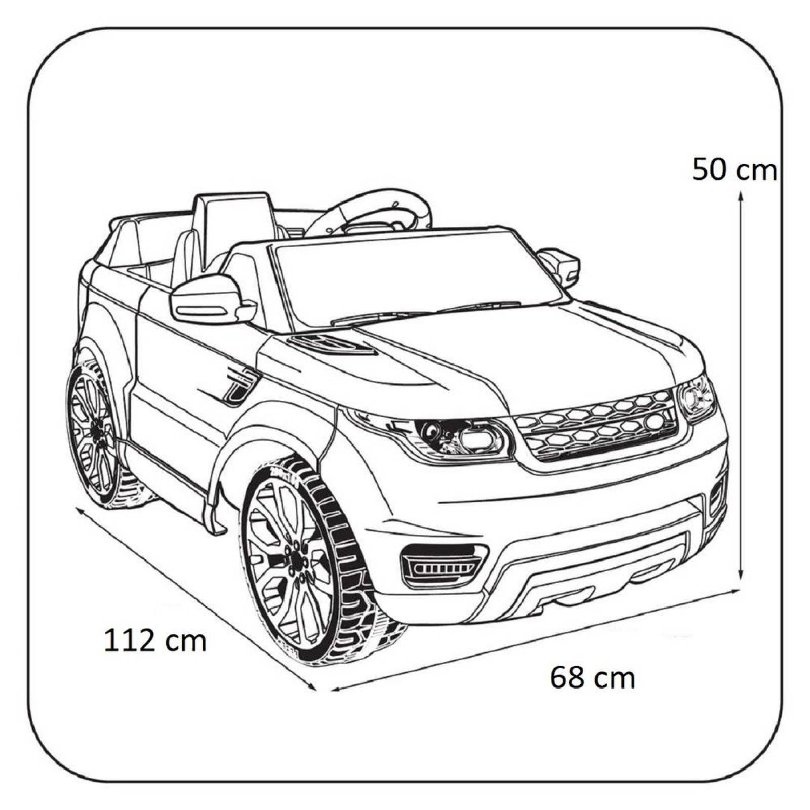 Carro Electrico Montable Con Control Blanco USBMusicaRadio