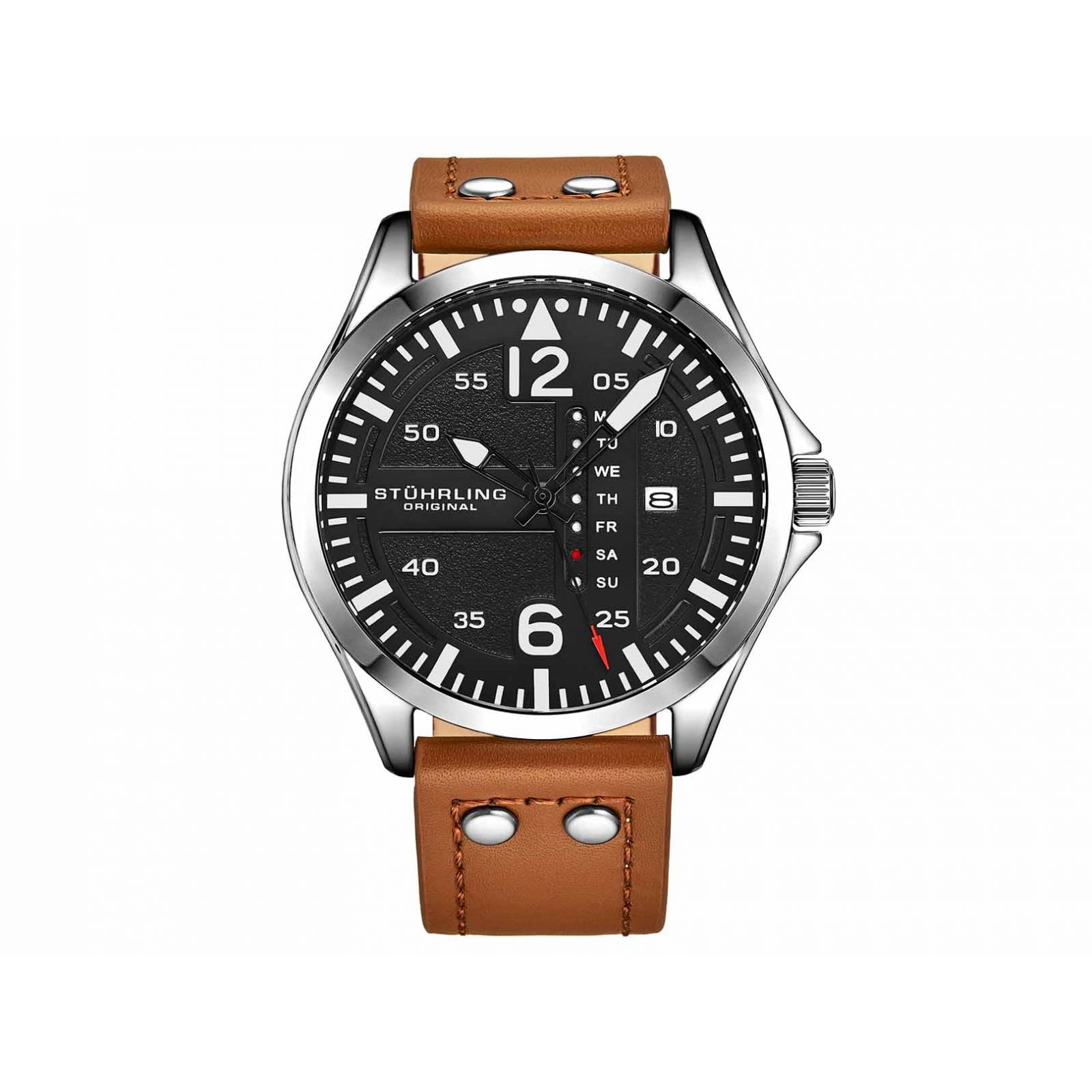 e8630ad925cf Reloj stührling modelo aviator-caballero