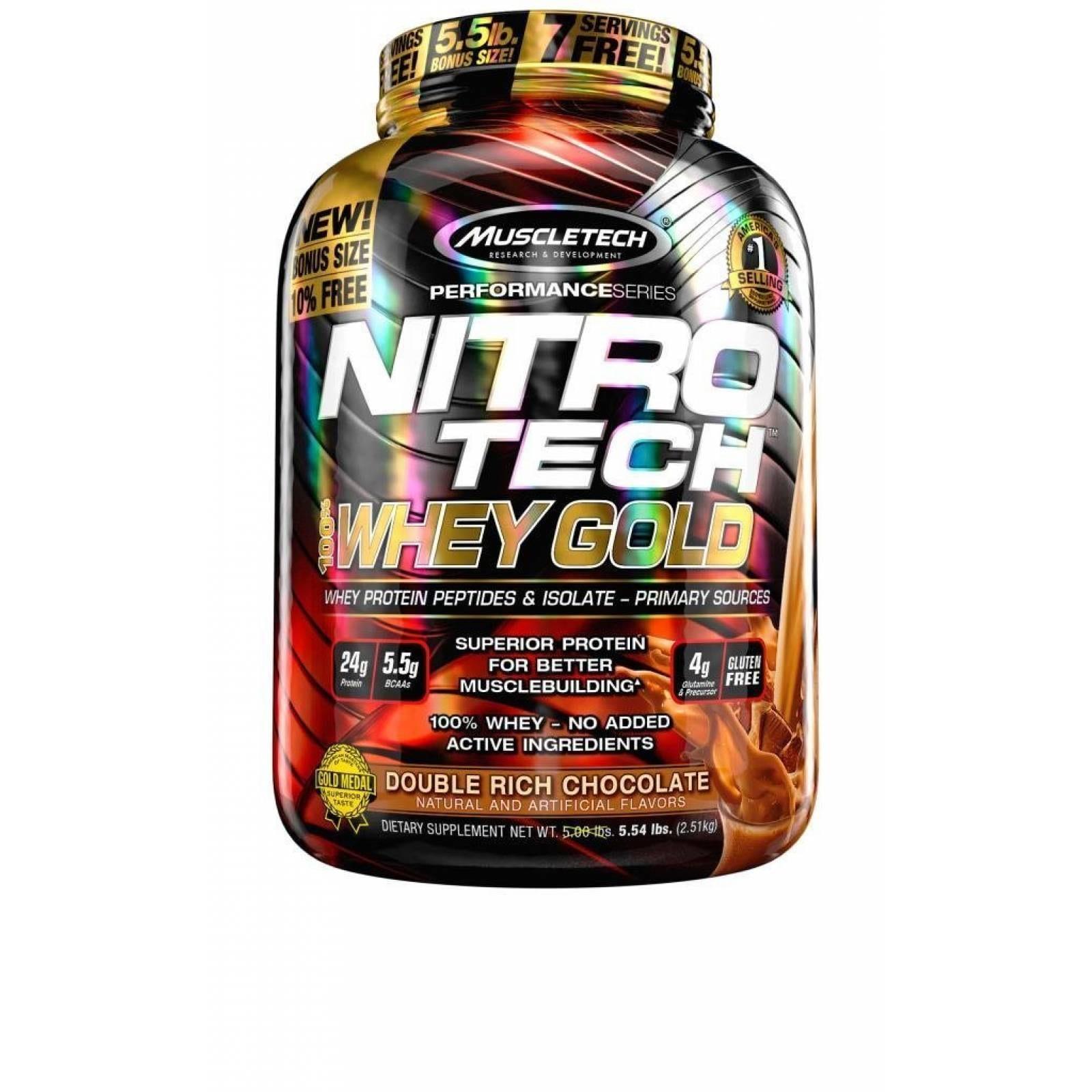 MT NITRO-TECH WHEY GOLD 5.53 LBS DOUBLE RICH CHOCOLATE