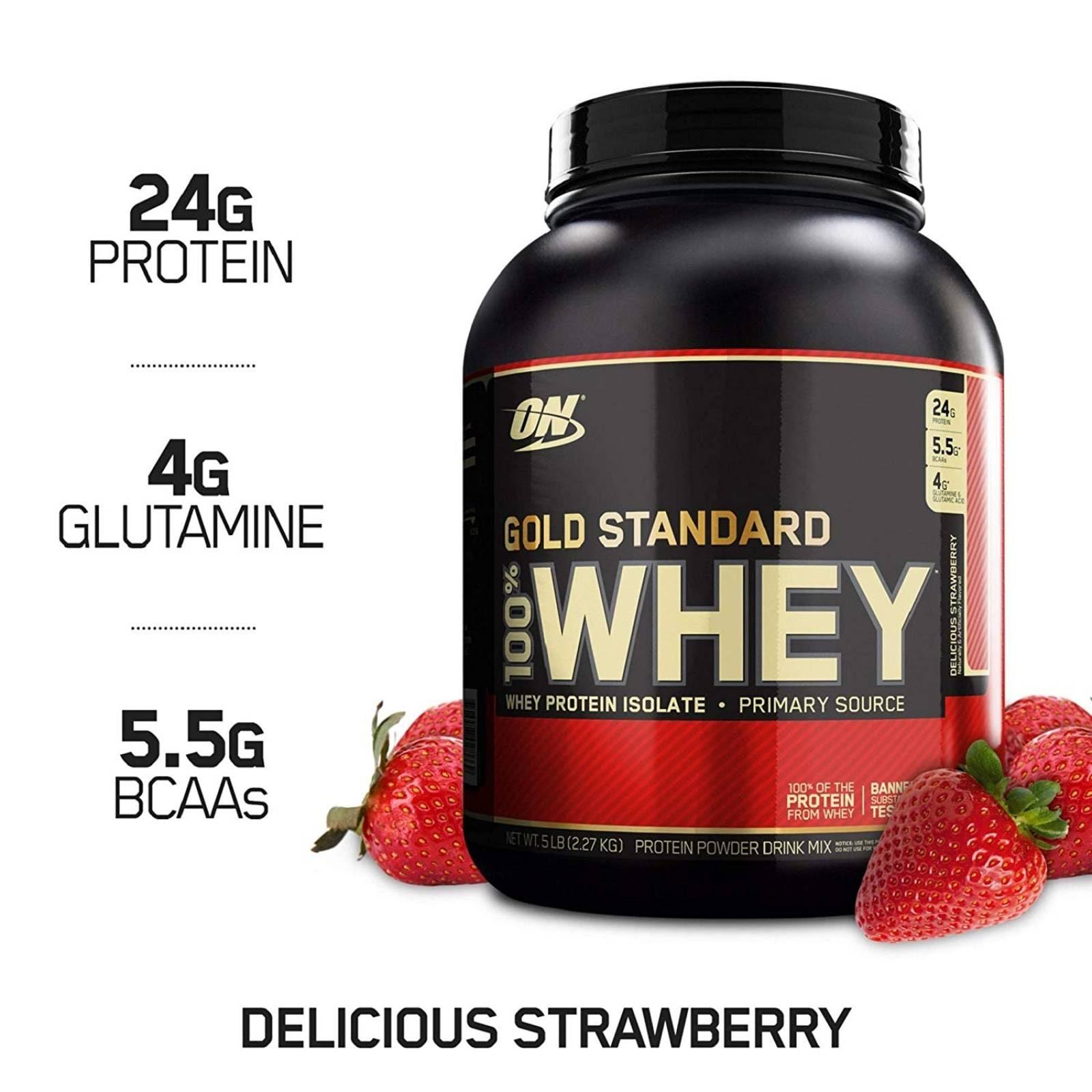OPTIMUM NUTRITION 100% WHEY GOLD STD 5 LBS STRAWBERRY