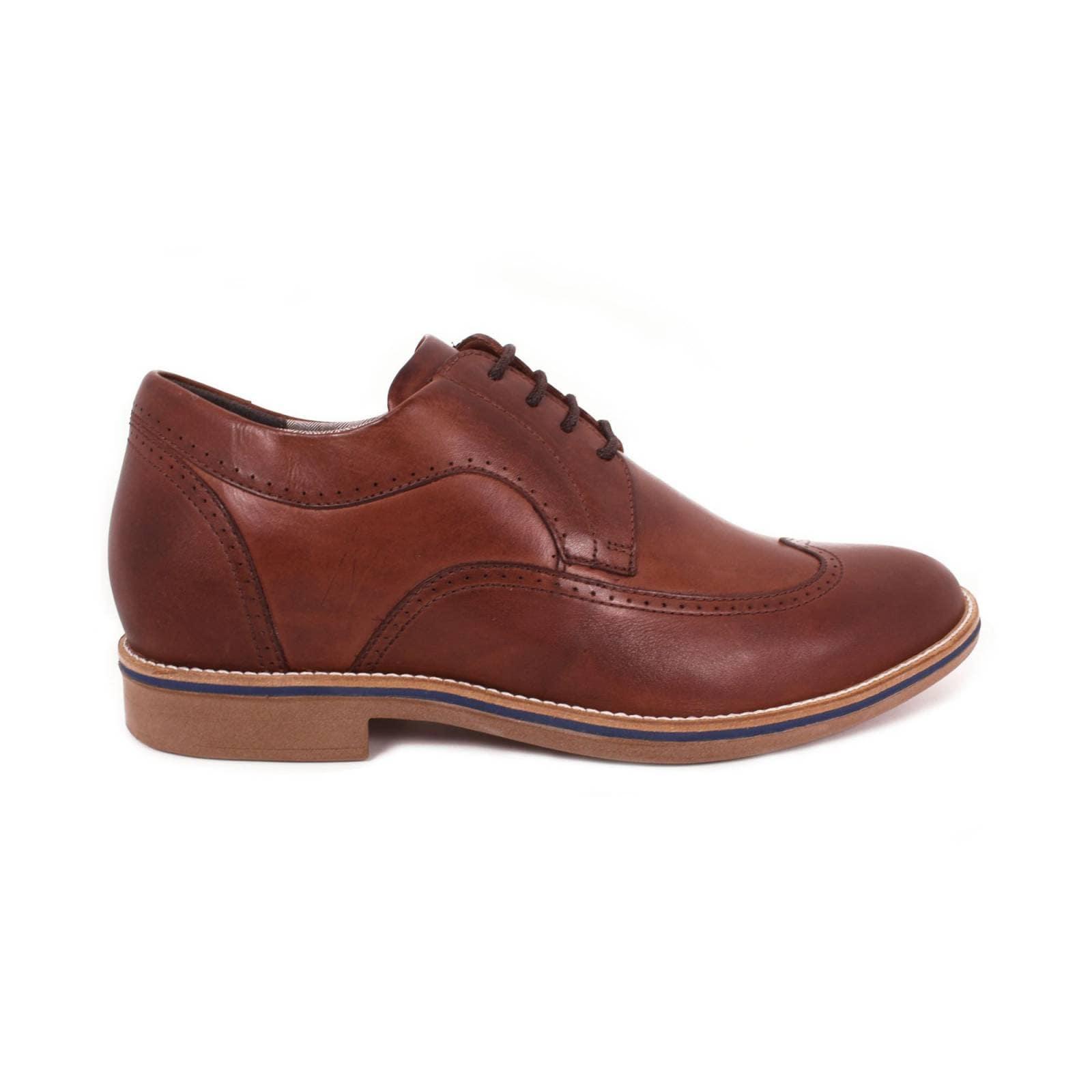 Zapato Casual Oxford Café Oscuro Max Denegri +7cms De Altura