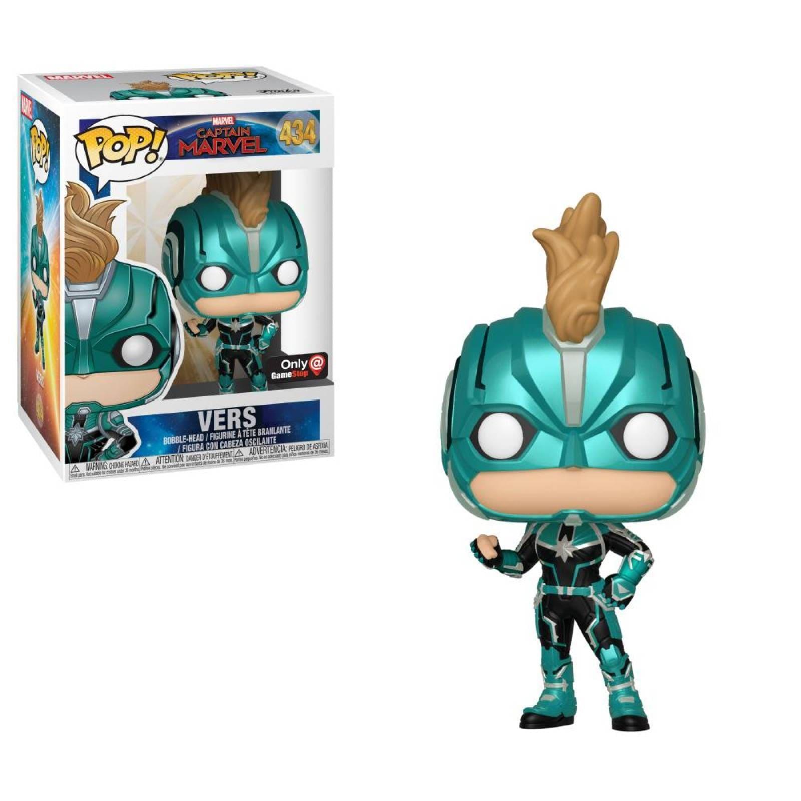 Vers Funko Pop Capitana Marvel Exclusivo con Protector