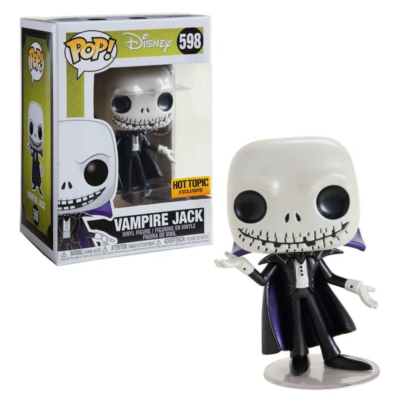 Vampire Jack Skellington Funko Pop Disney Metalico Exclusivo