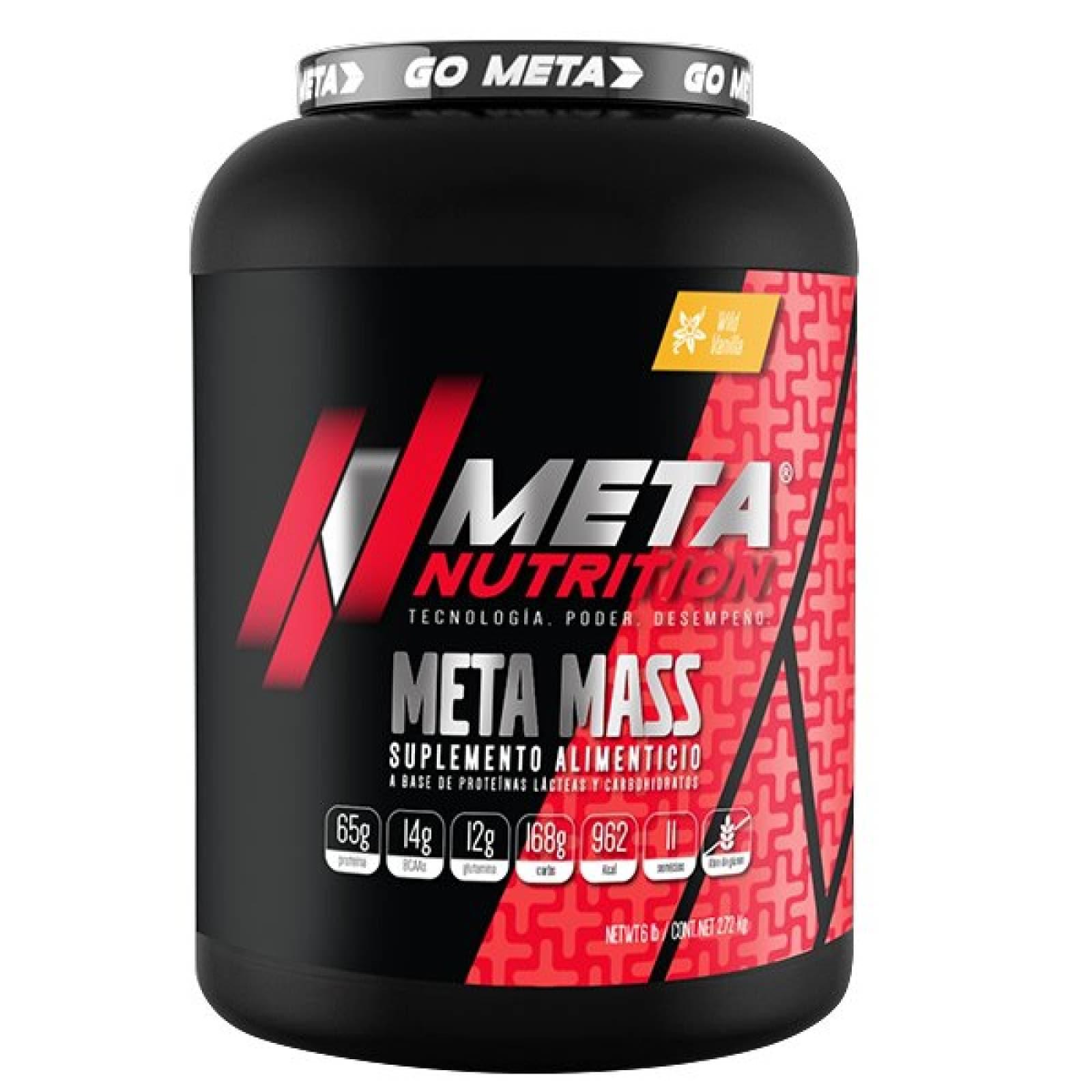 Proteina Meta Nutrition Meta Mass 6 Lb - 2.72 Kg Sabor Vainilla