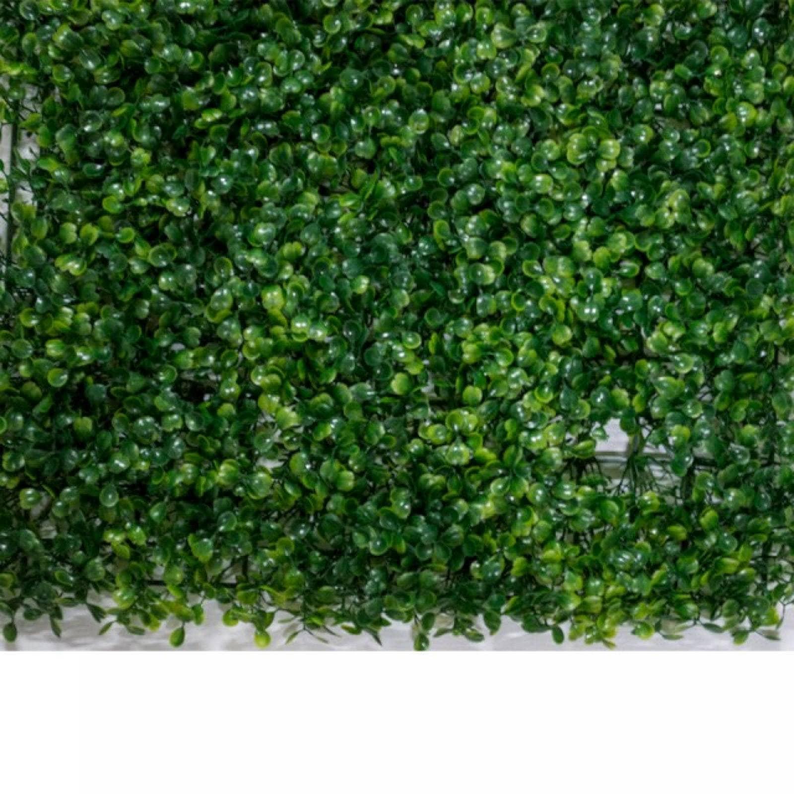 Follaje artificial 40x60 cm muro verde 10 piezas modelo jardín