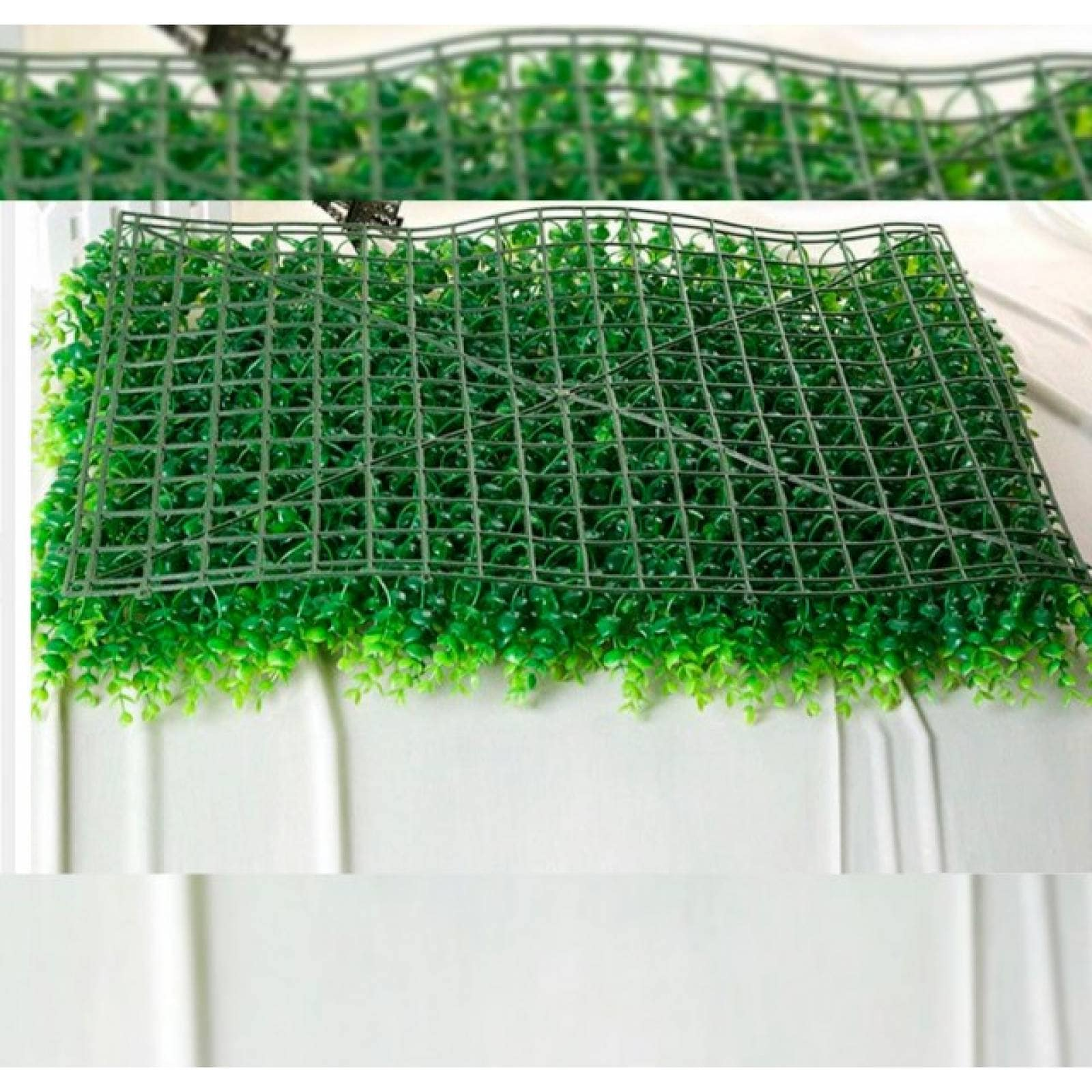 Follaje artificial 40x60 cm muro verde 4 piezas= 1m2 modelo tropical