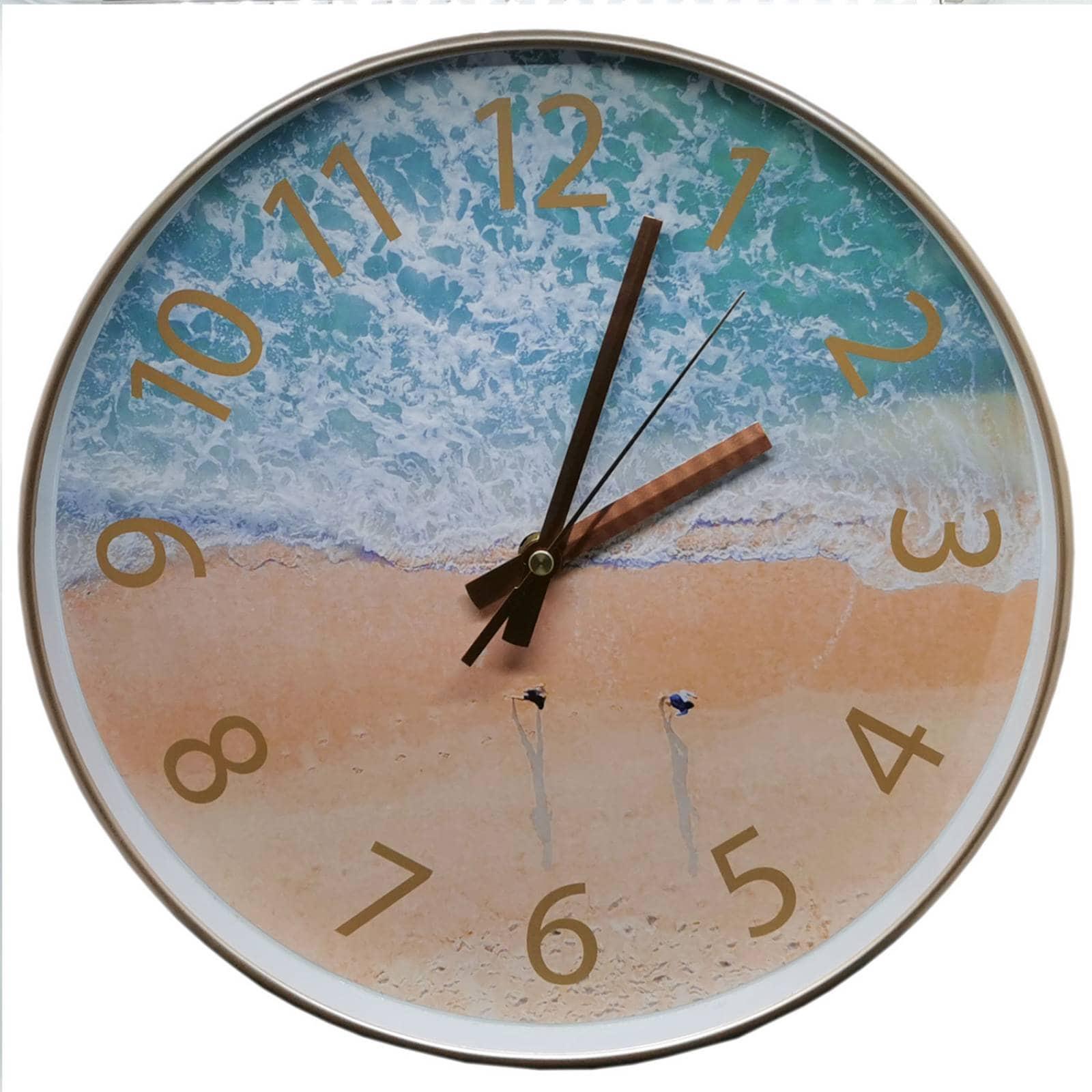 Reloj de Pared 30 cm silencioso playa