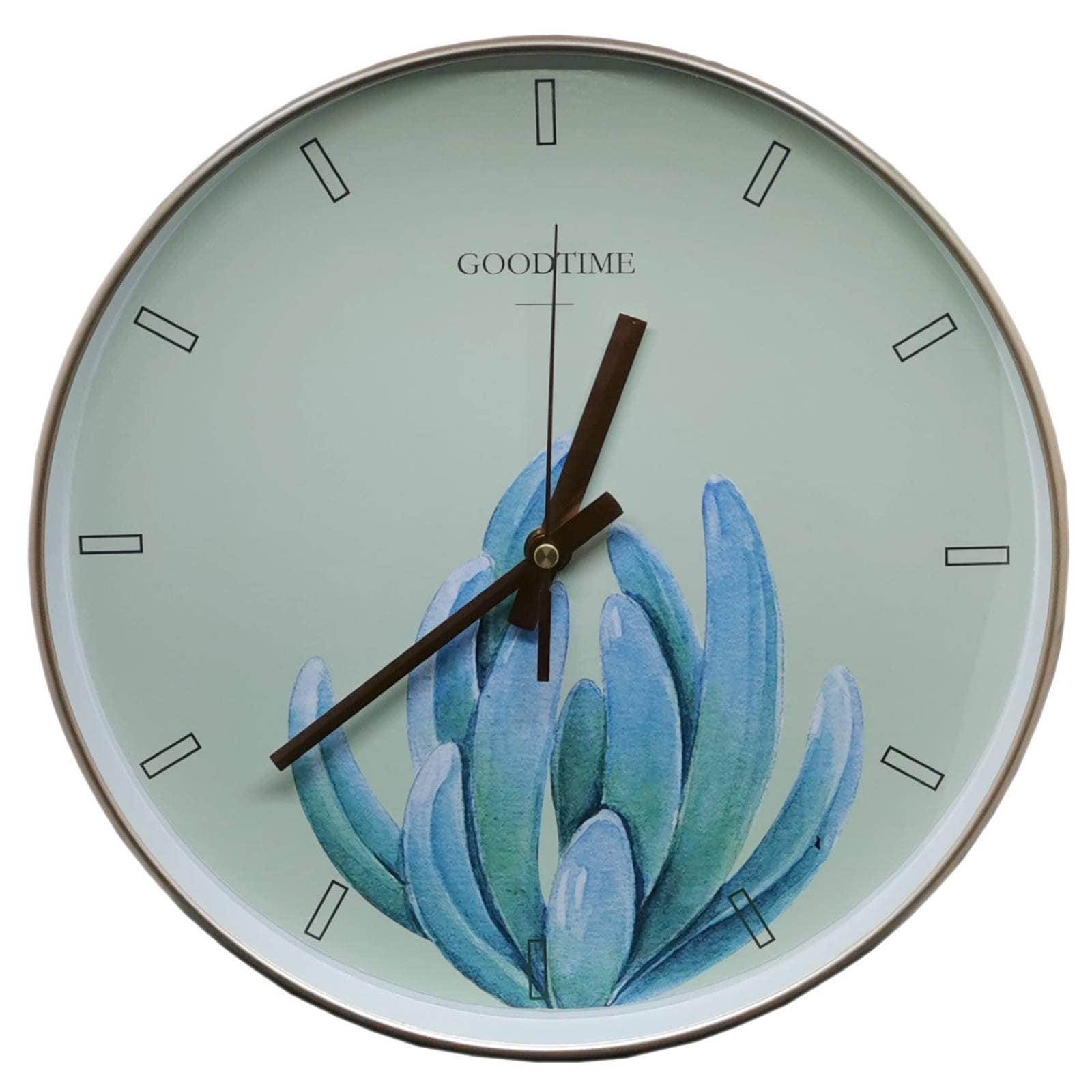 Reloj de Pared 30 cm silencioso suculenta