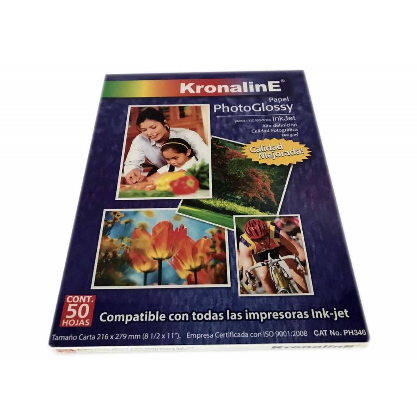 Papel Fotografico KronalinE Ph346 brillante carta 20h 260g