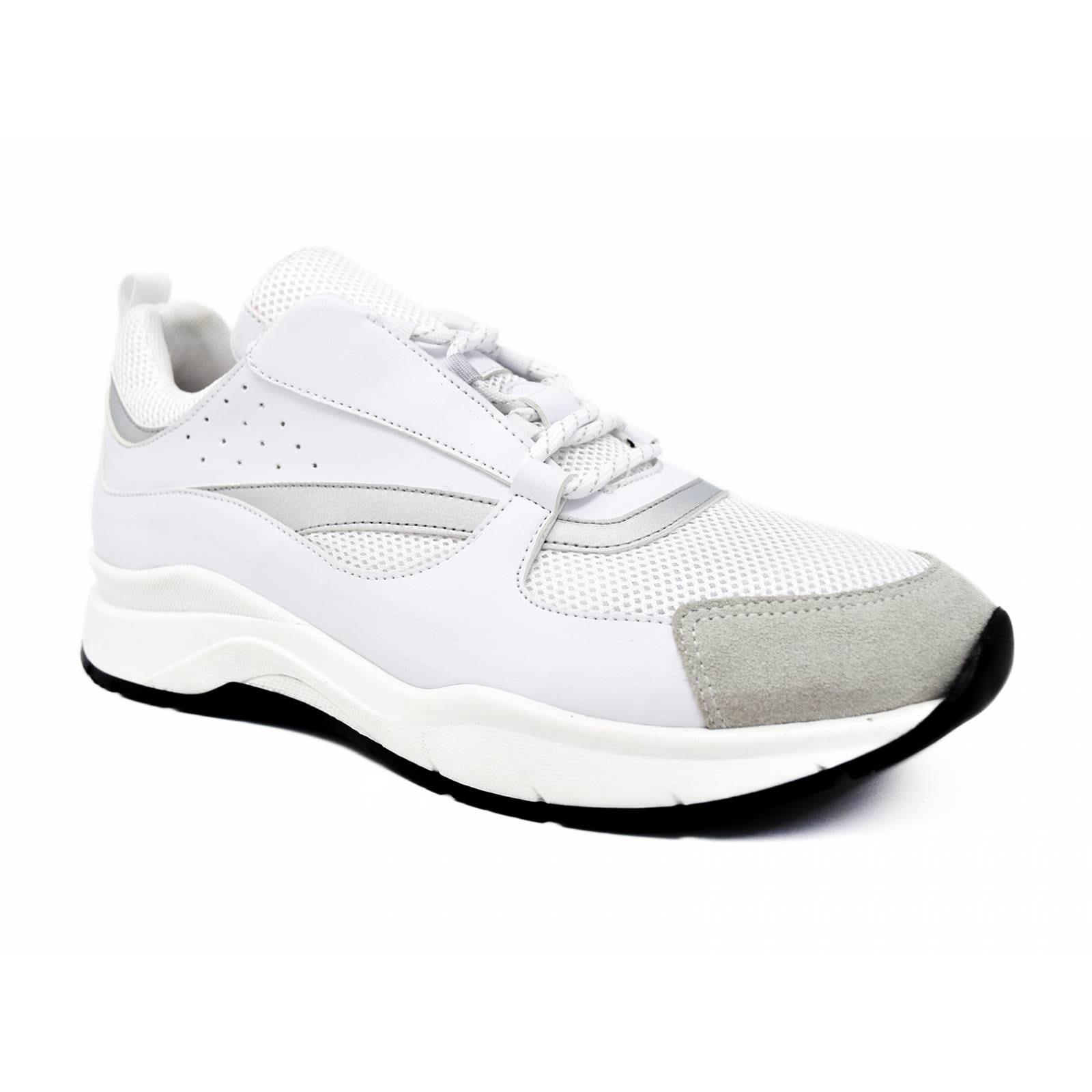 Tenis Cream Soda para hombre sport - moh 300 a  blanco silver