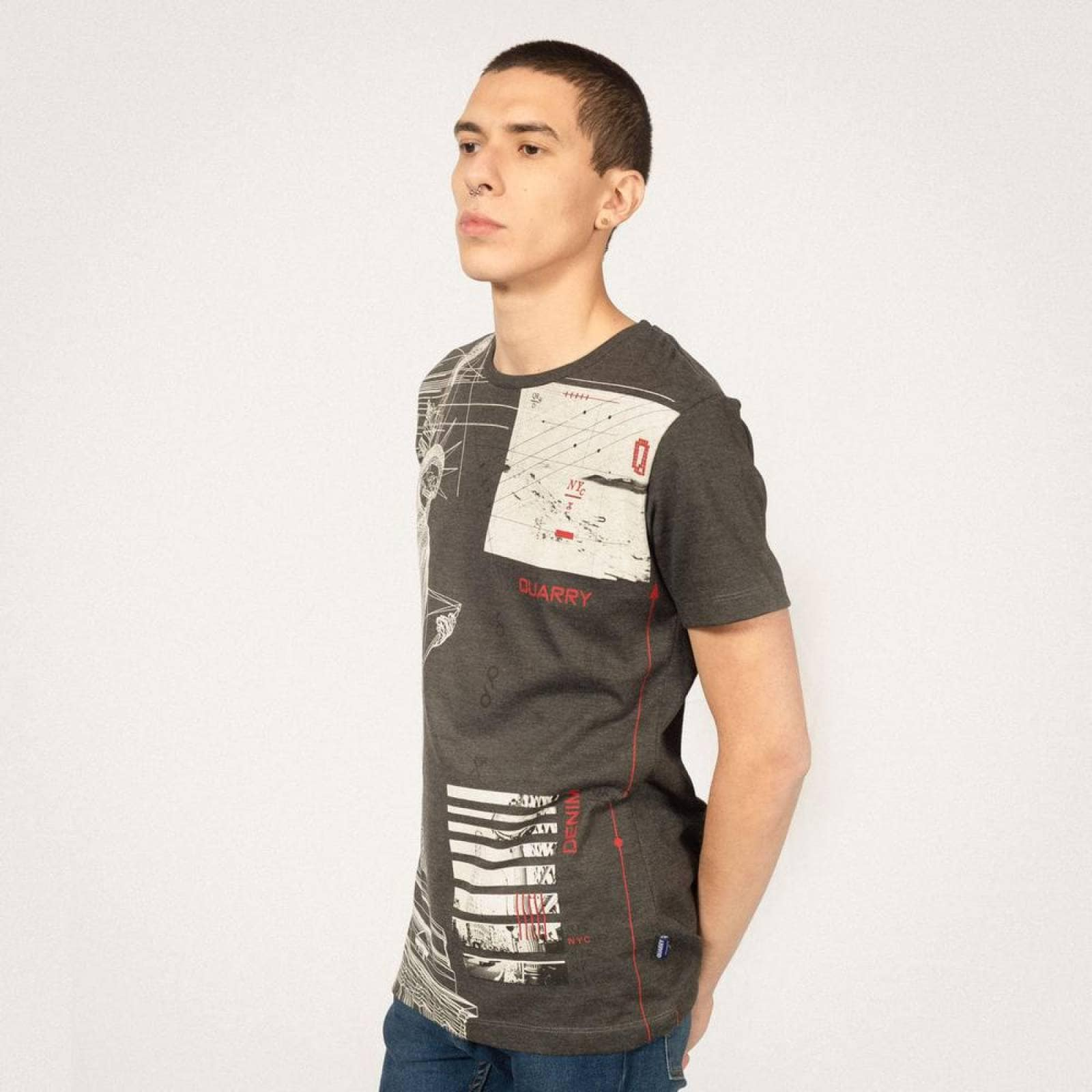 PLAYERA CUELLO REDONDO QUARRY JEANS