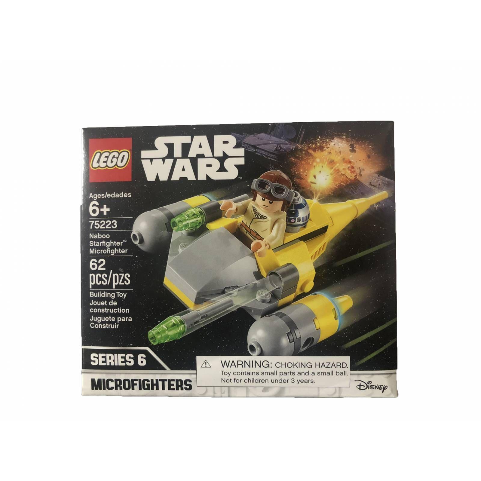 LEGO Star Wars MOD. 75223 Microfighter Naboo Starfighter, 62 piezas. Series 6. Disney.