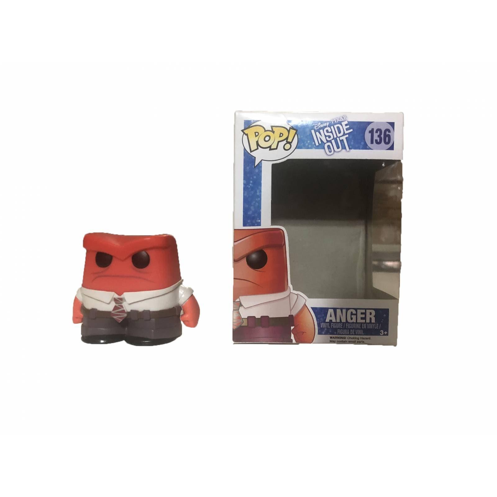 Figura Funko Pop! Coleccionable Juguete Disney Pixar - Intensamente Inside Out 136 Anger Enojo