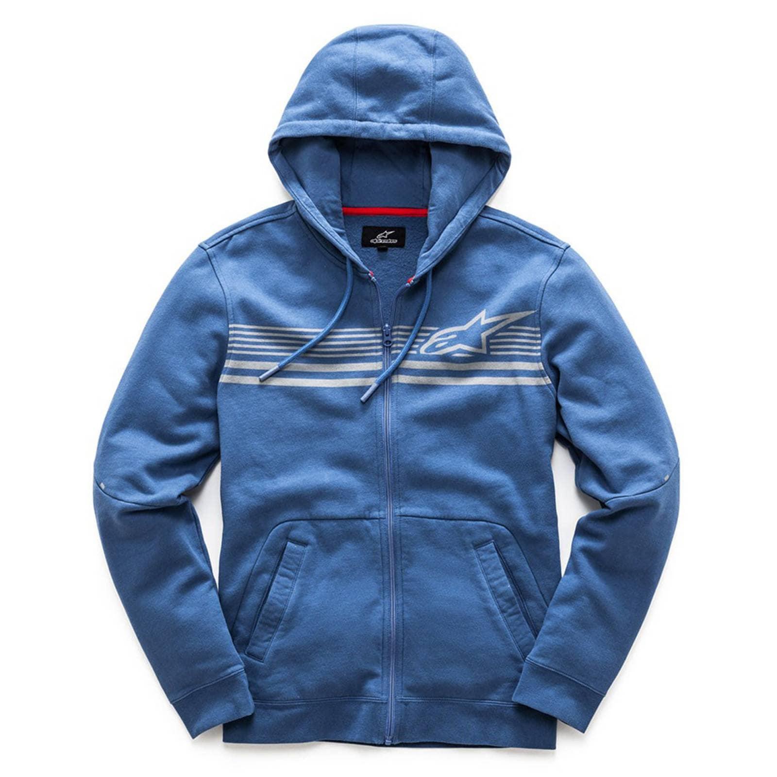 Alpinestars Sudadera Con Gorra Y Zipper Dynamic Fleece Azul
