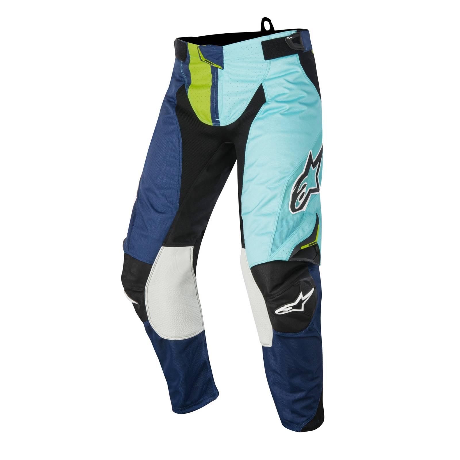Alpinestars Pantalon Para Motocross Techstar Factory Marino Turquesa Lima