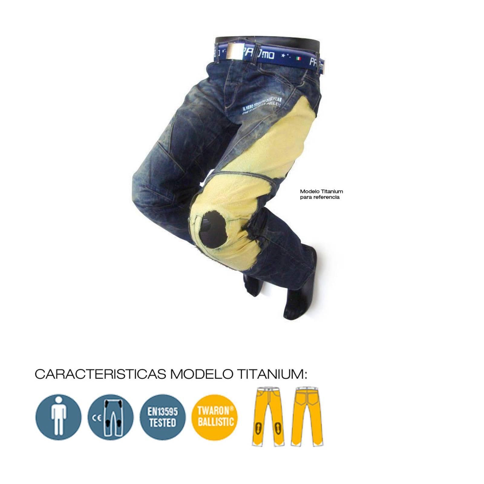 PANTALON ITALIANO PARA MOTOCICLISMO MODELO TITANIUM PMJ EN13595-1