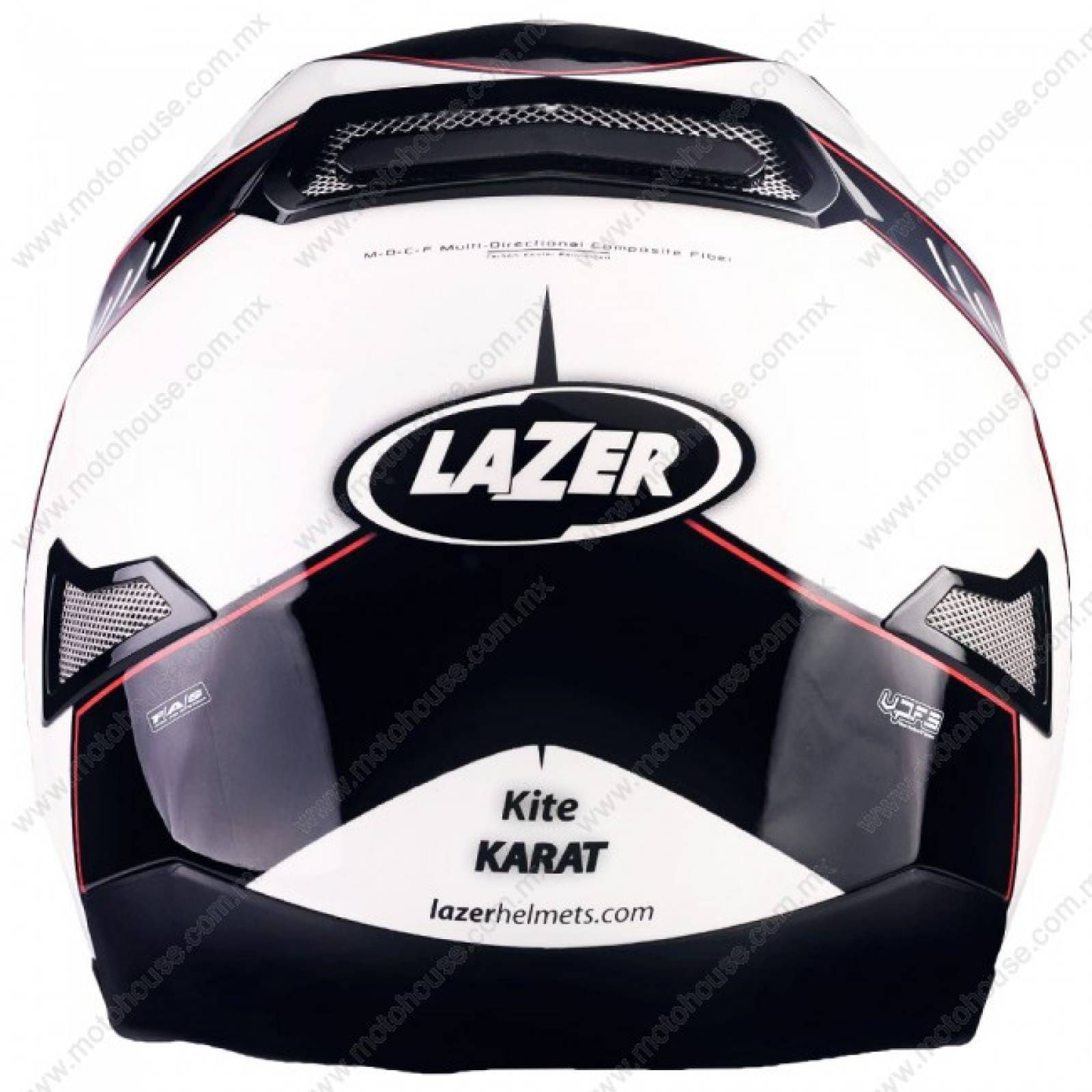 CASCO 2XL KITE KARAT PURE GLASS BLANCO/NEGRO LAZER